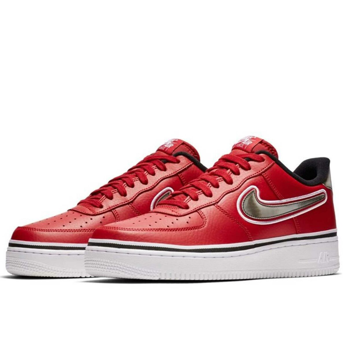 nike air force 1 '07 LV8 sport red white купить