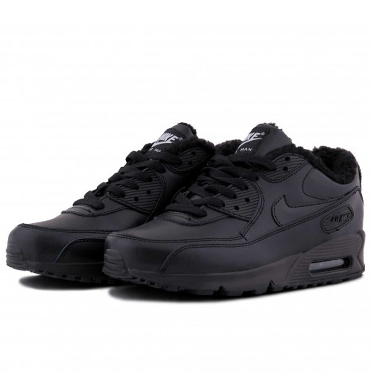 nike air max 90 LTR all black winter купить