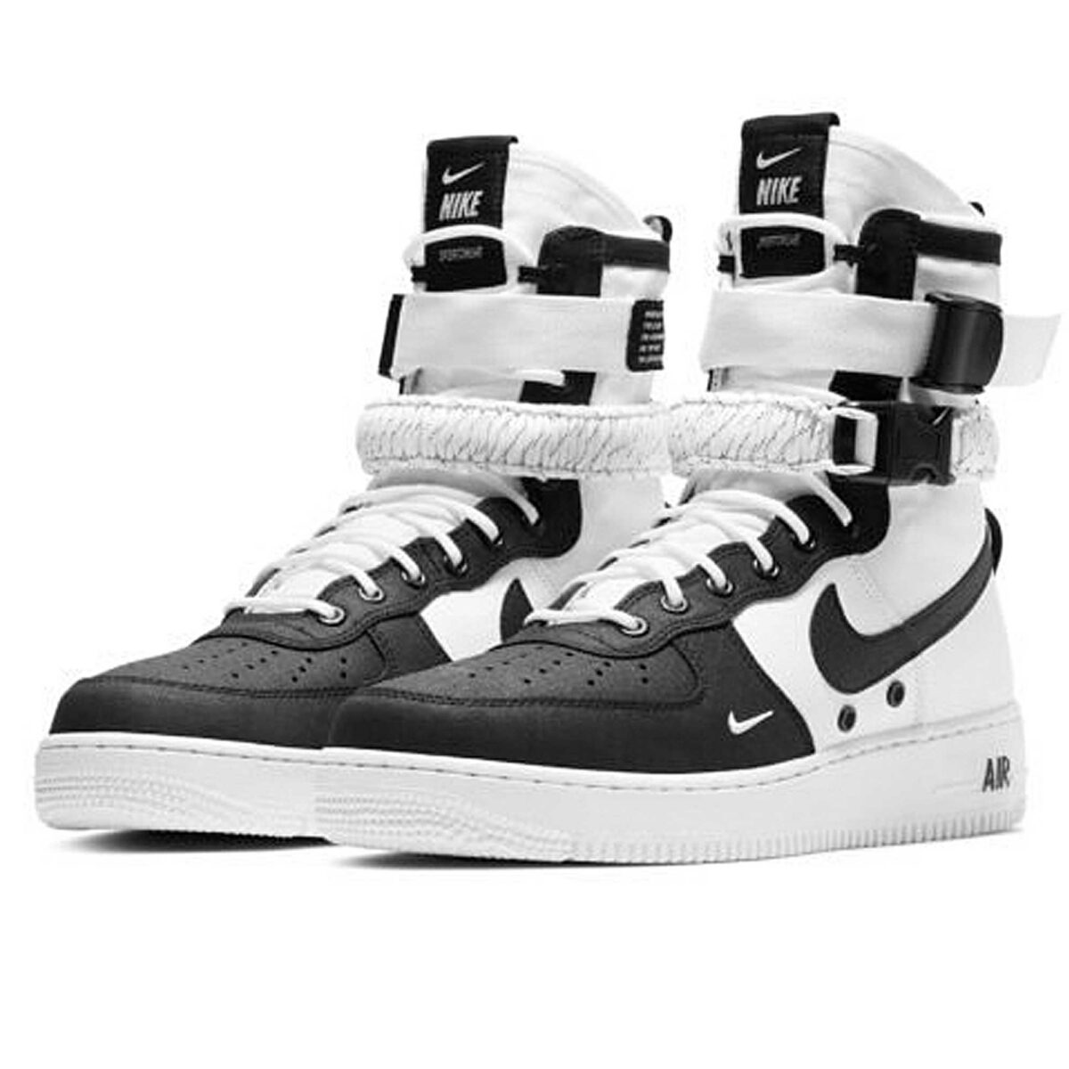 nike sf air force 1 black white купить