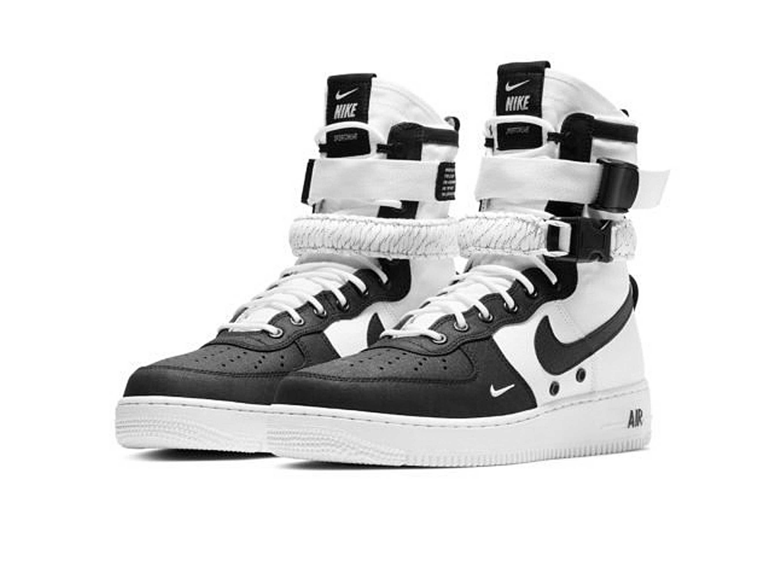 nike sf air force 1 black white купить