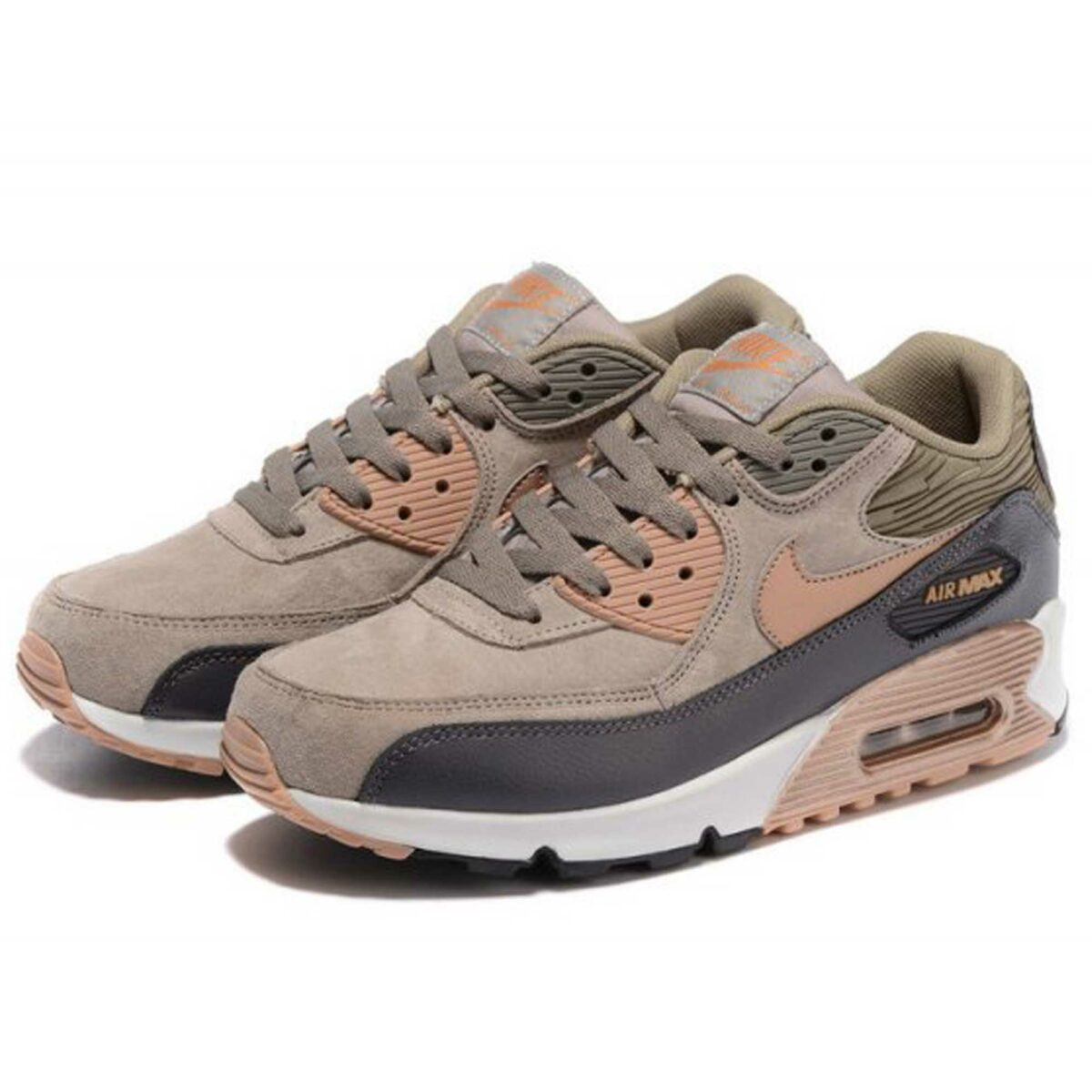 nike air max 90 leather bronze gold metallic 768887_201 купить