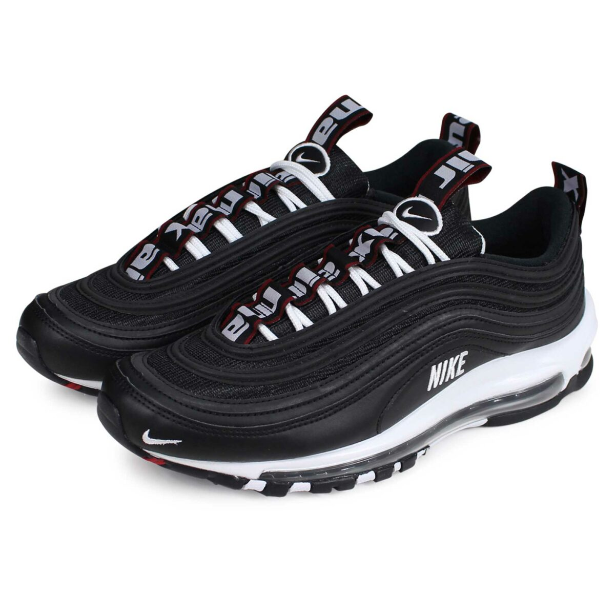 nike air max 97 black leather 312834_008 купить