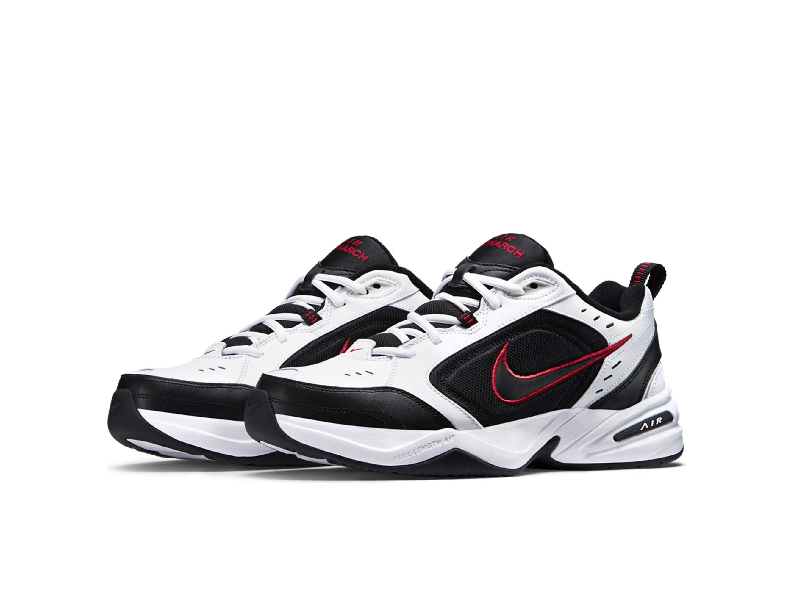 nike air monarch IV white black 416355_101 купить