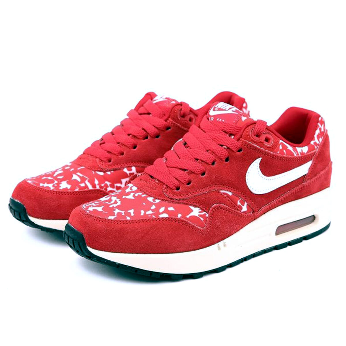 nike air max 1 87 red flower print 528898_600 купить