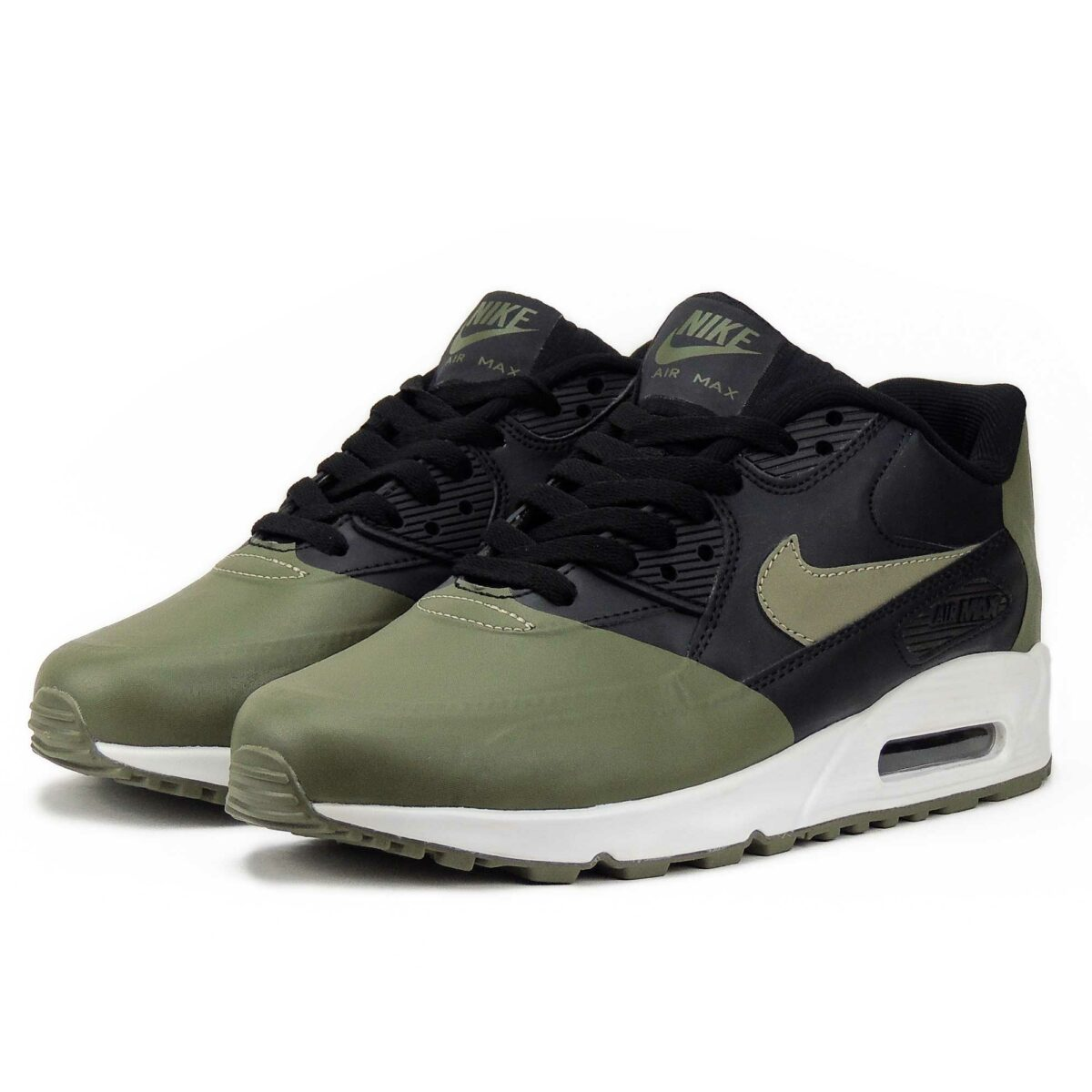 nike air max 90 premium se black green 858954_005 купить
