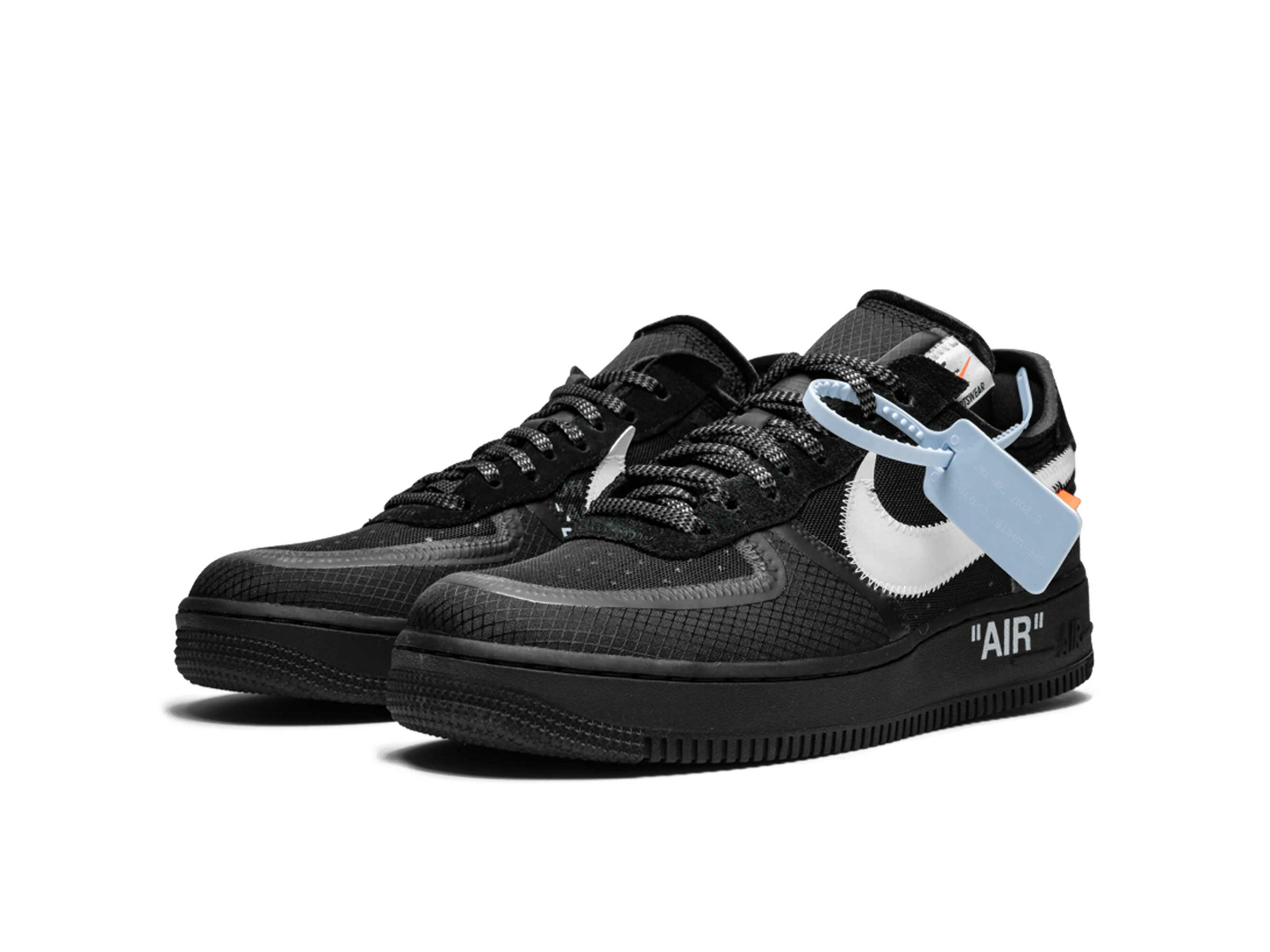 off white x nike air force 1 low black AO4606_001 купить