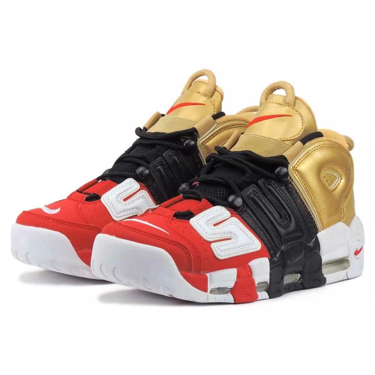nike air more uptempo red black gold 902290_002 купить