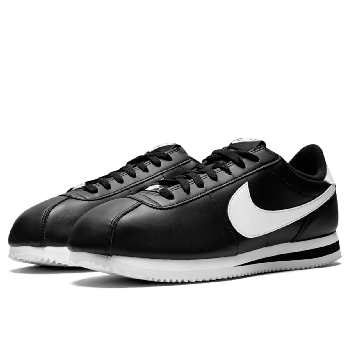 nike cortez basic black white 819719_012 купить