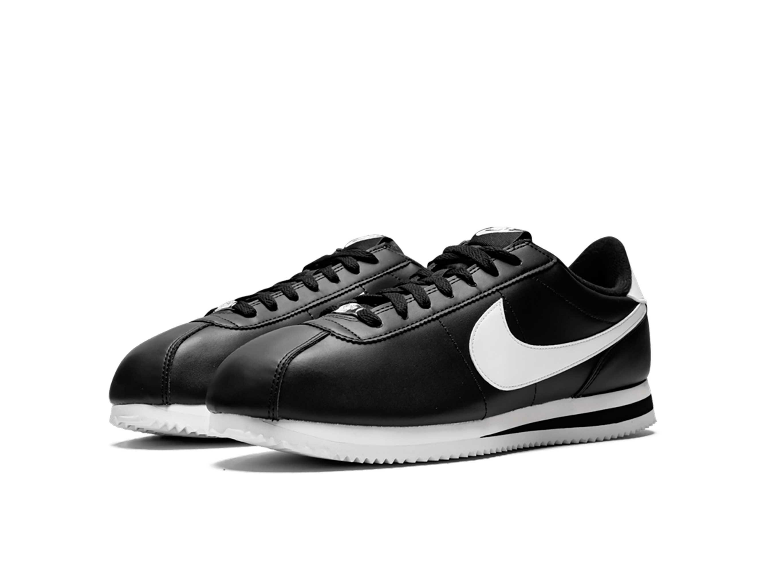 nike cortez basic black white 819719_012 купить