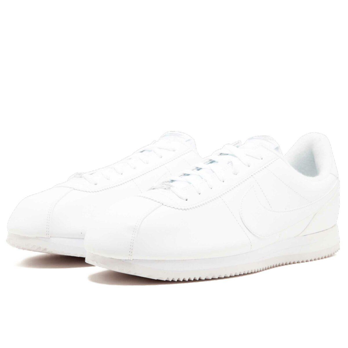 nike cortez basic leather white 819719_110 купить