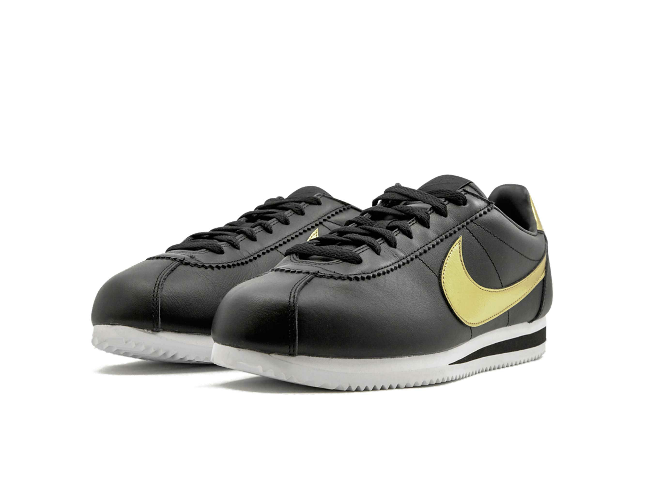 nike cortez se black gold 902801_002 купить