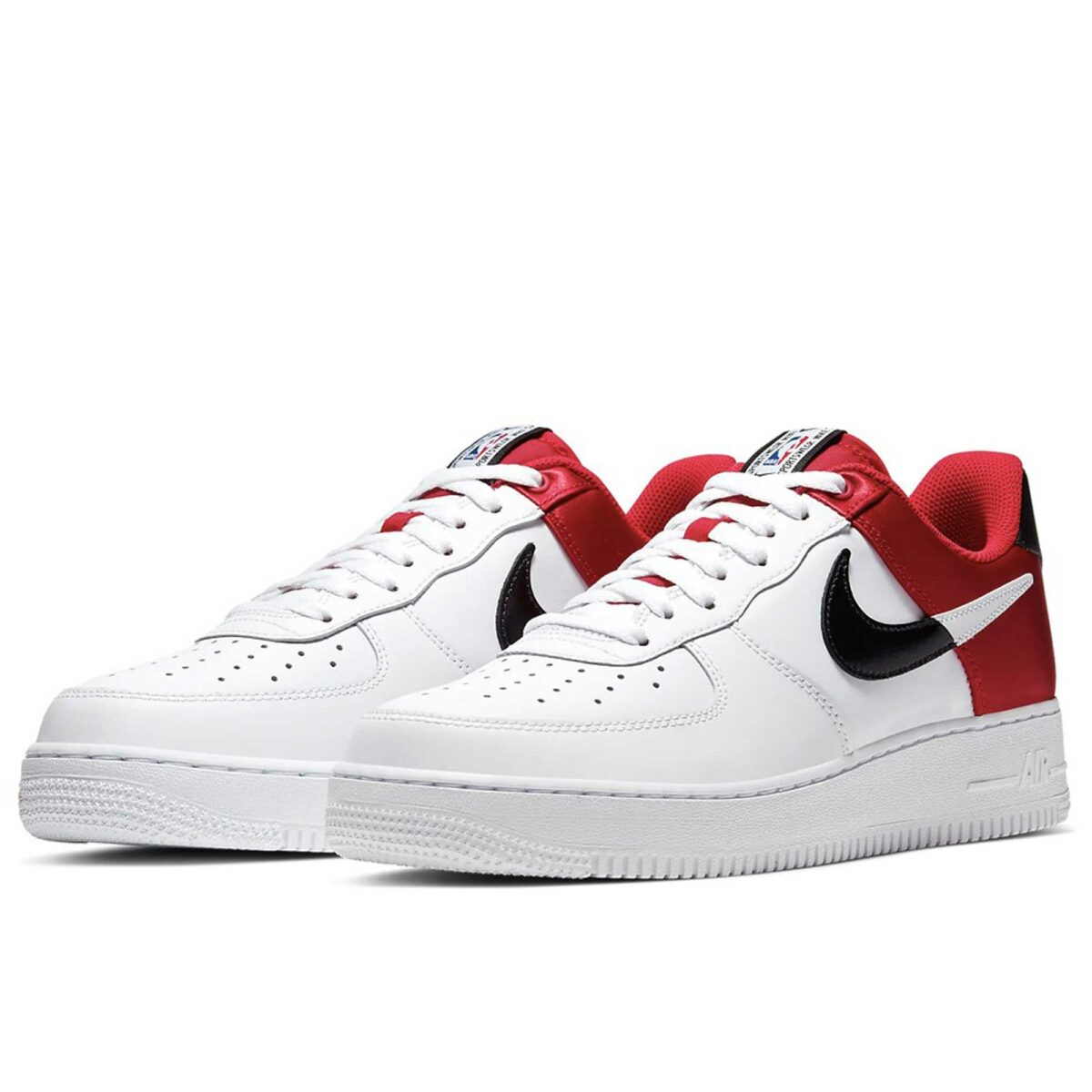 nike air force 1 '07 LV8 NBA white black red купить