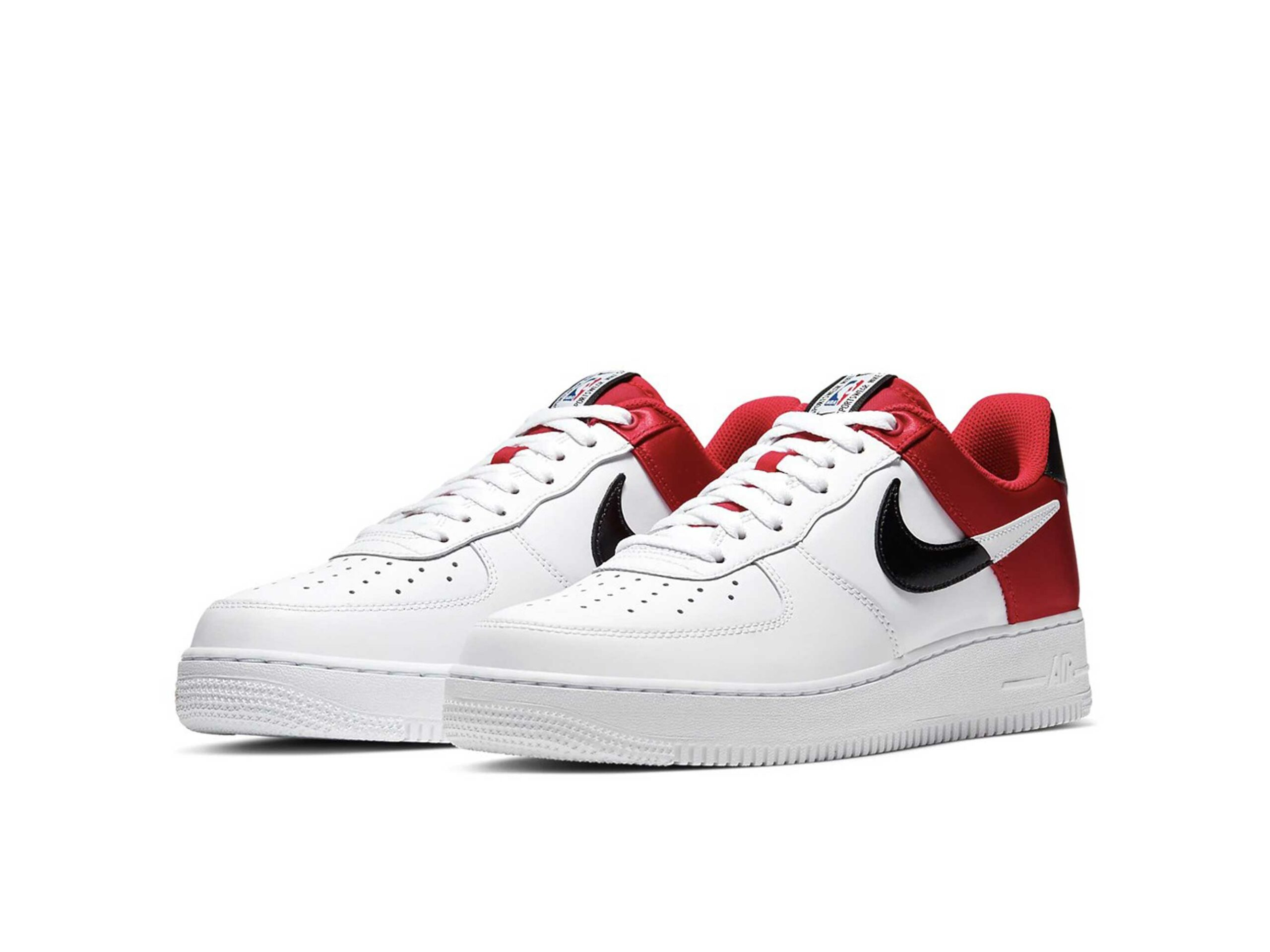 nike air force 1 '07 LV8 NBA white black red купить