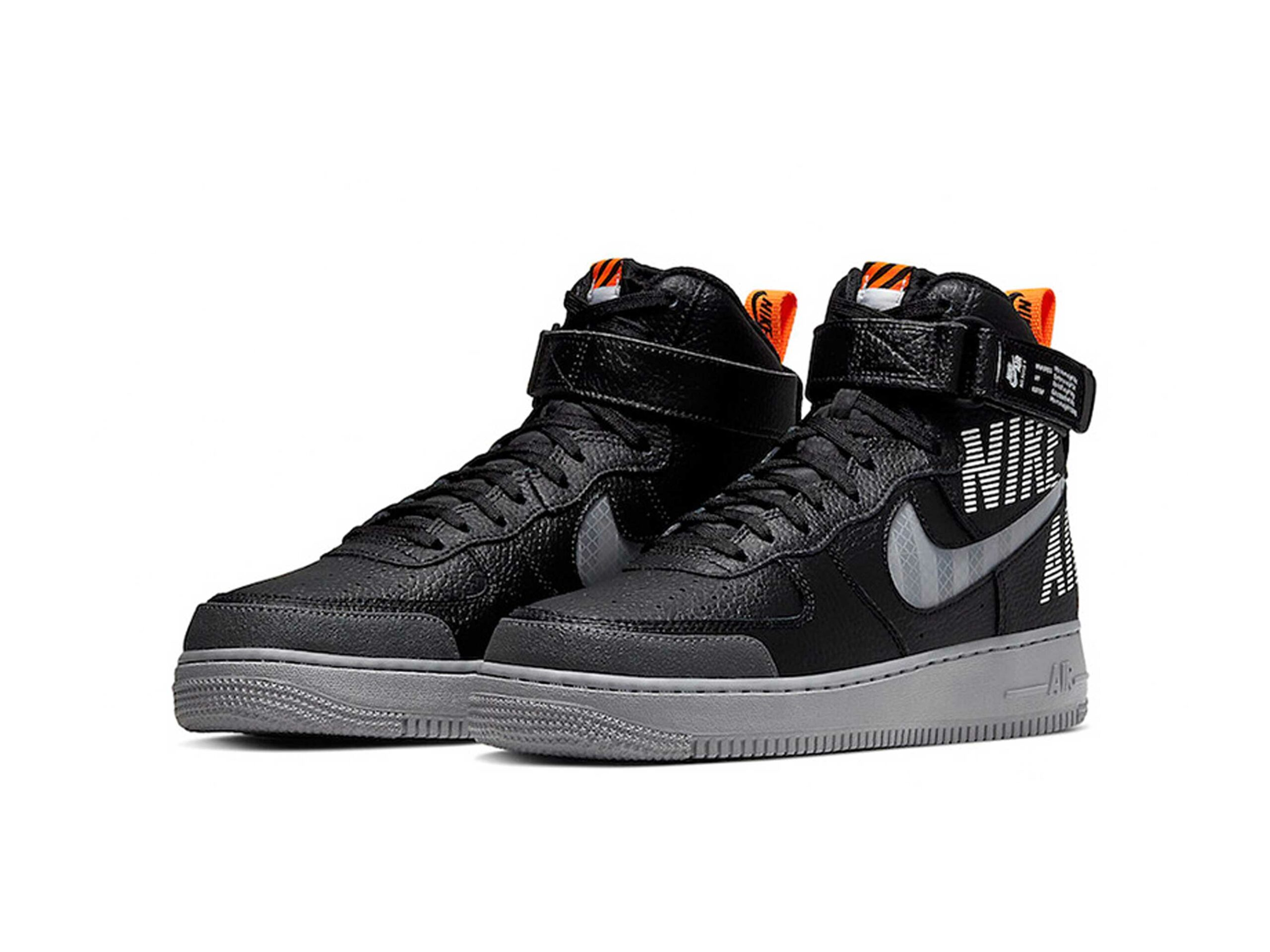 nike air force 1 high black grey CQ0449_001 купить