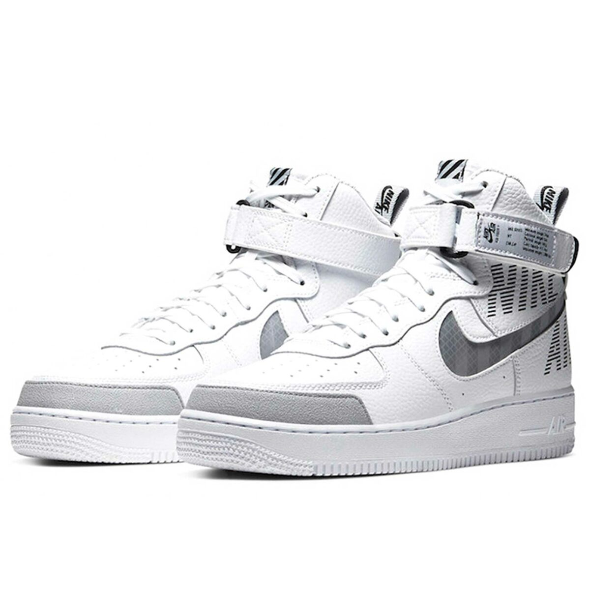 nike air force 1 high white grey CQ0449_100 купить
