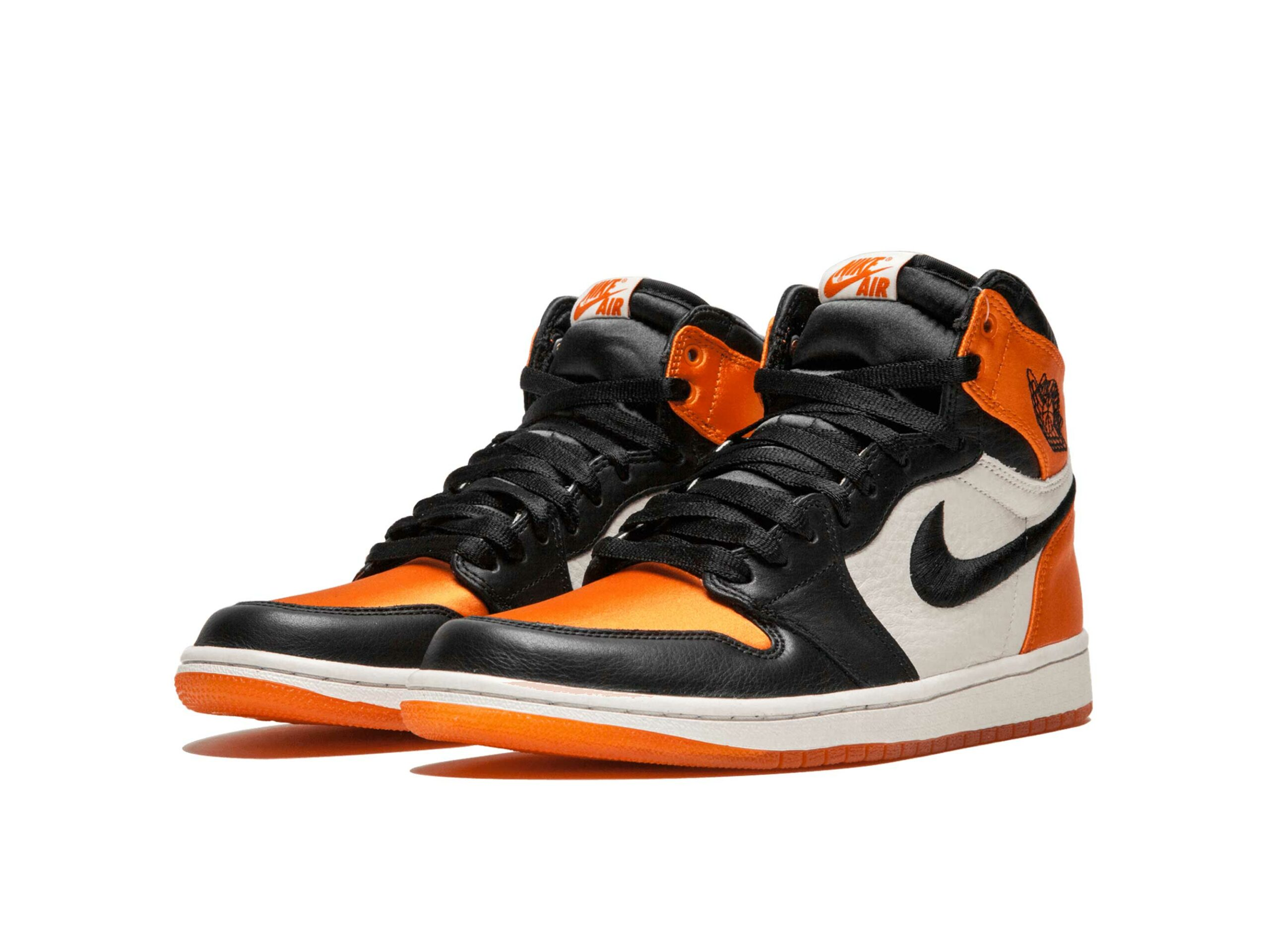 nike air Jordan 1 satin shattered backboard black orange AV3725_010 купить