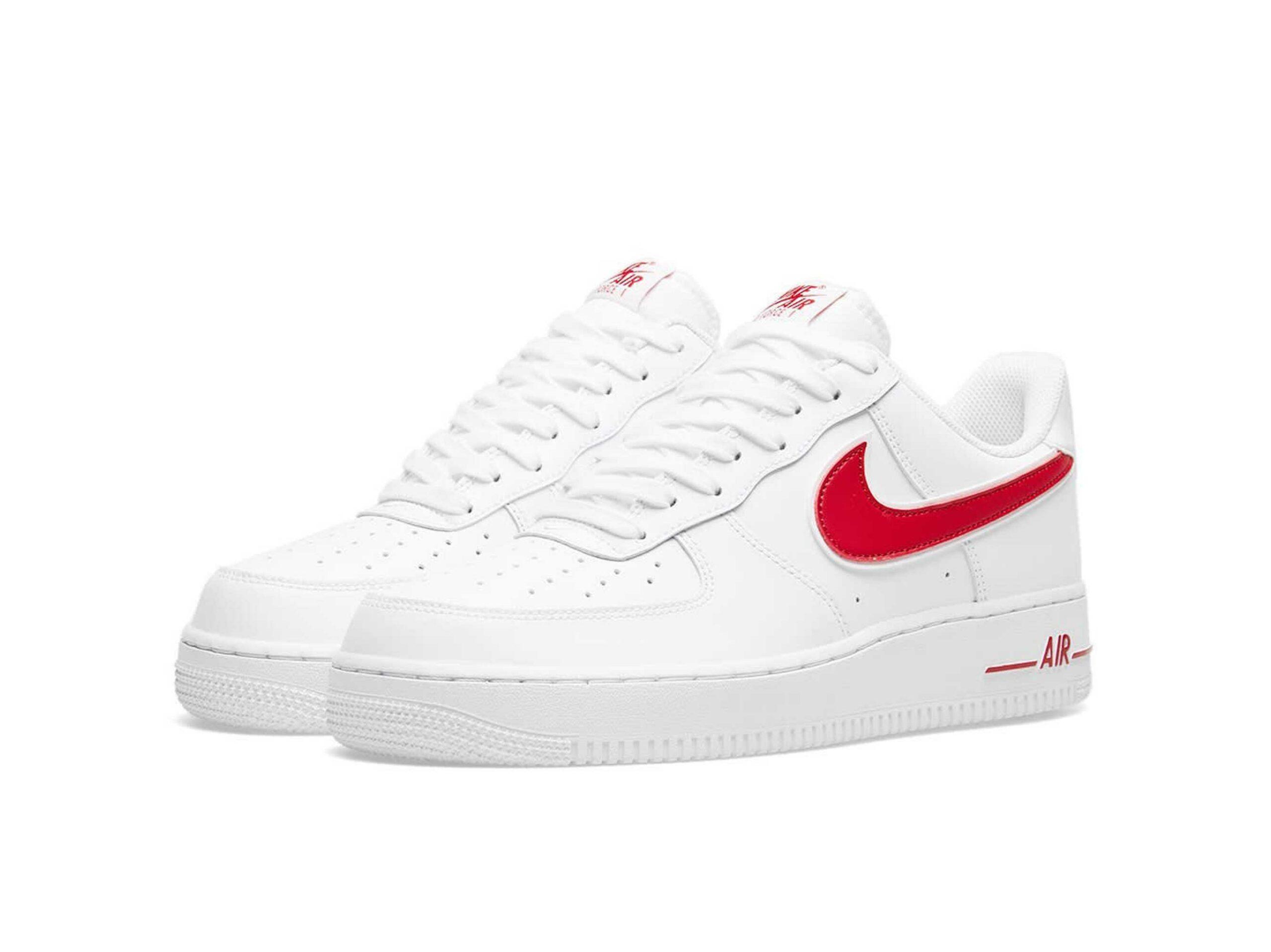 nike air force 1 white red AO2423_102 купить
