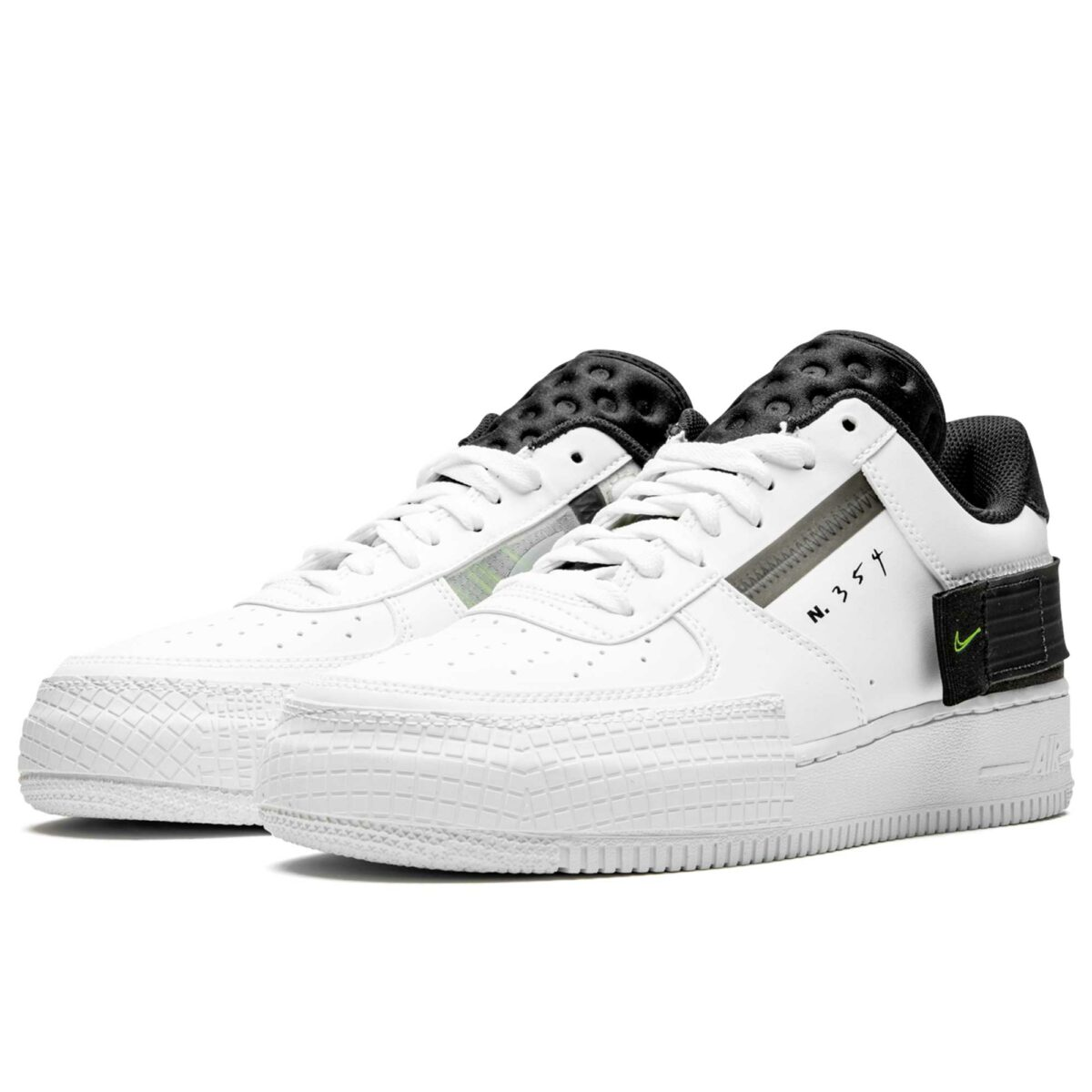 nike air force 1 type white black AT7859_101 купить