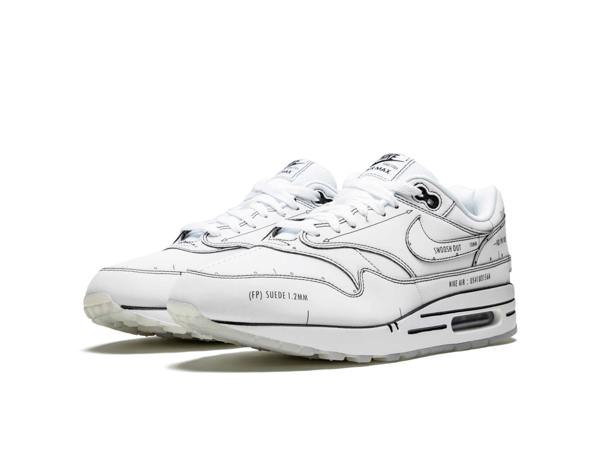 nike air max 1 sketch schematic CJ4286_100 купить