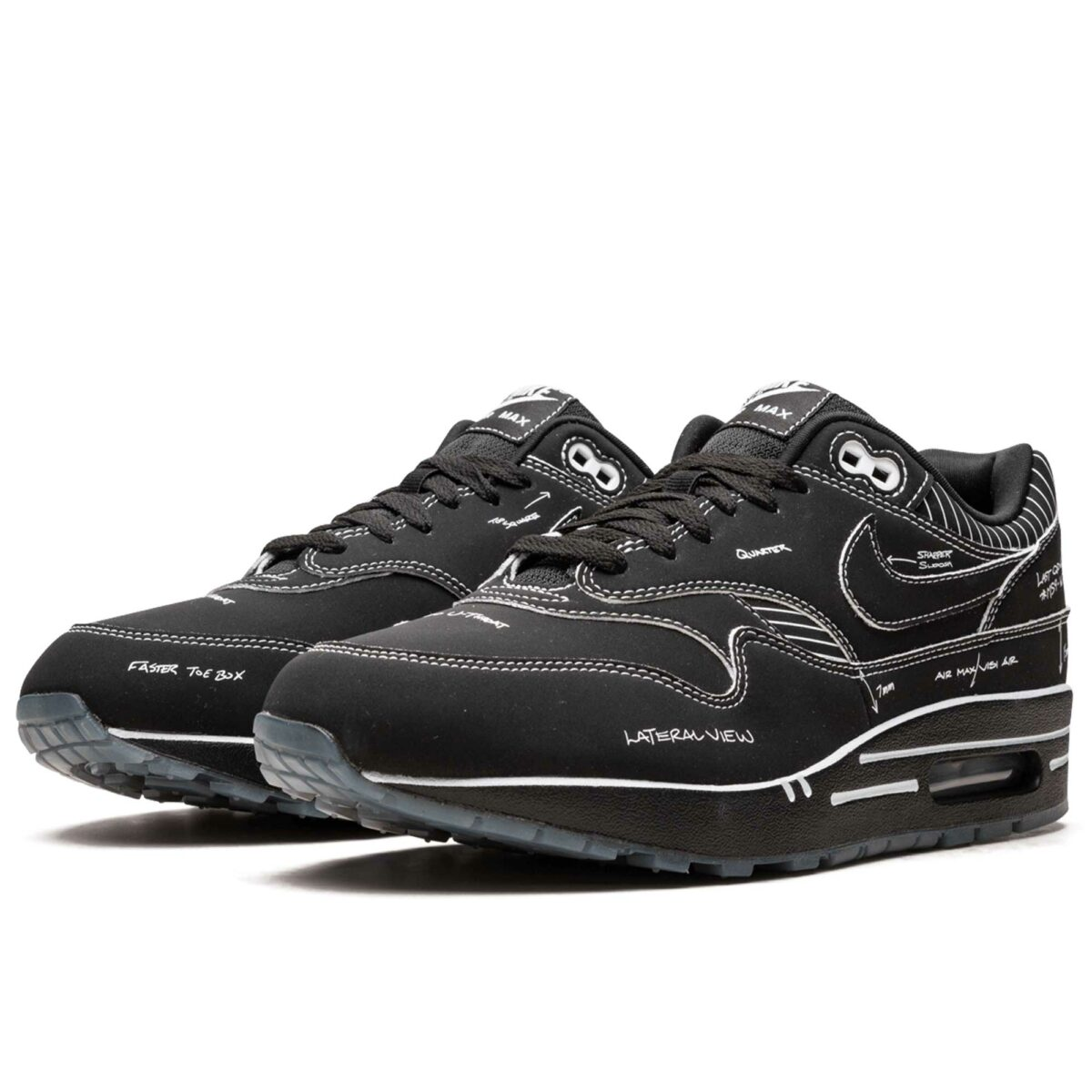 nike air max 1 sketch to shelf - black CJ4286_001 купить
