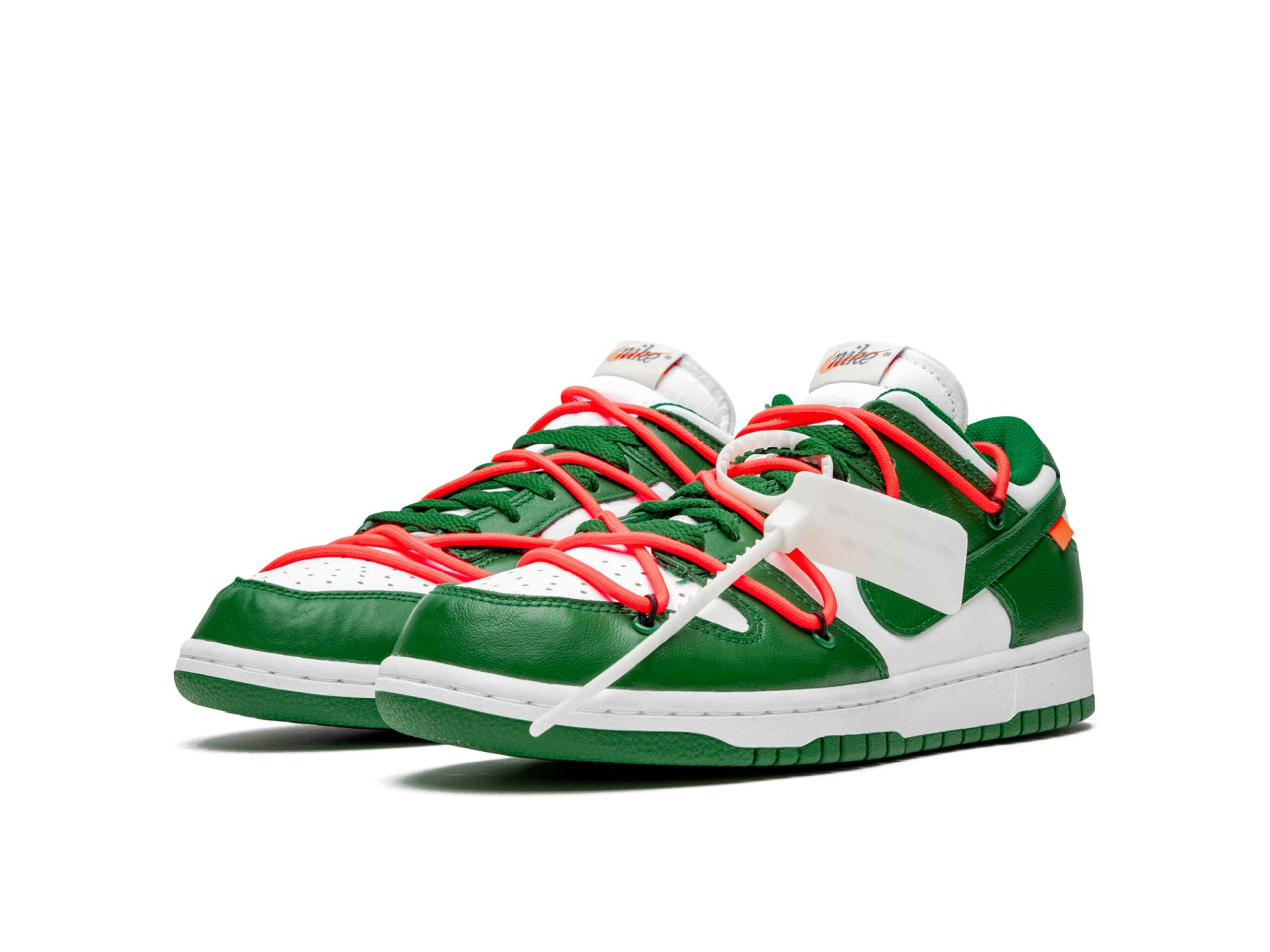 nike dunk low off-white - pine green CT0856_100 купить