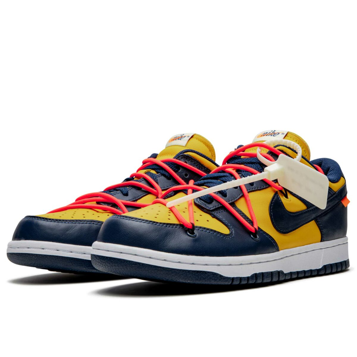 nike dunk low off-white - university gold CT0856_700 купить