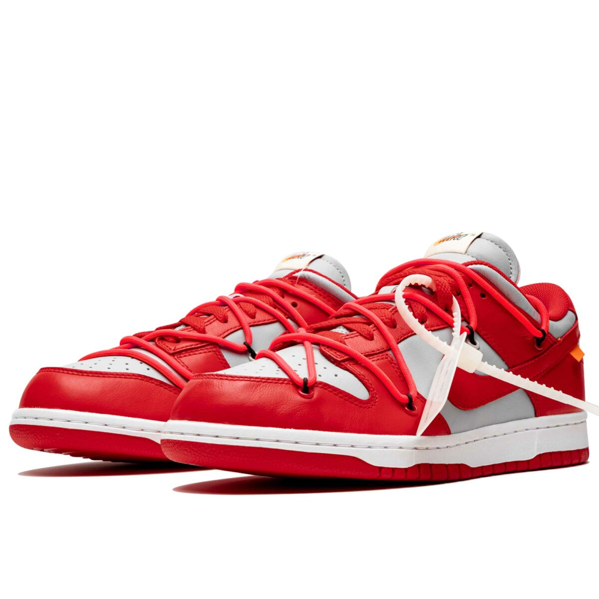 nike dunk low off-white - university red CT0856_600 купить