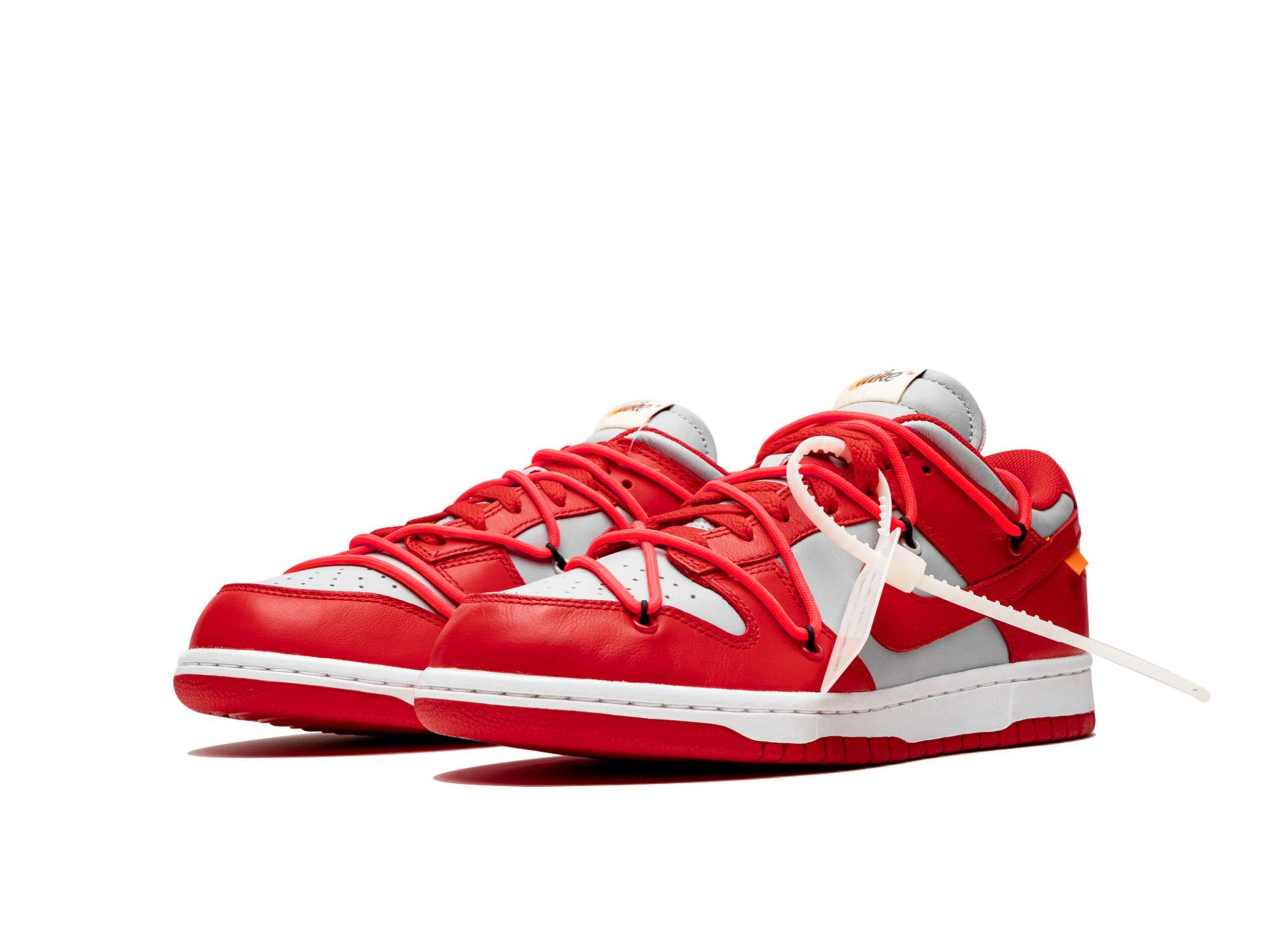 nike dunk low off-white - university red CT0856_600 купить