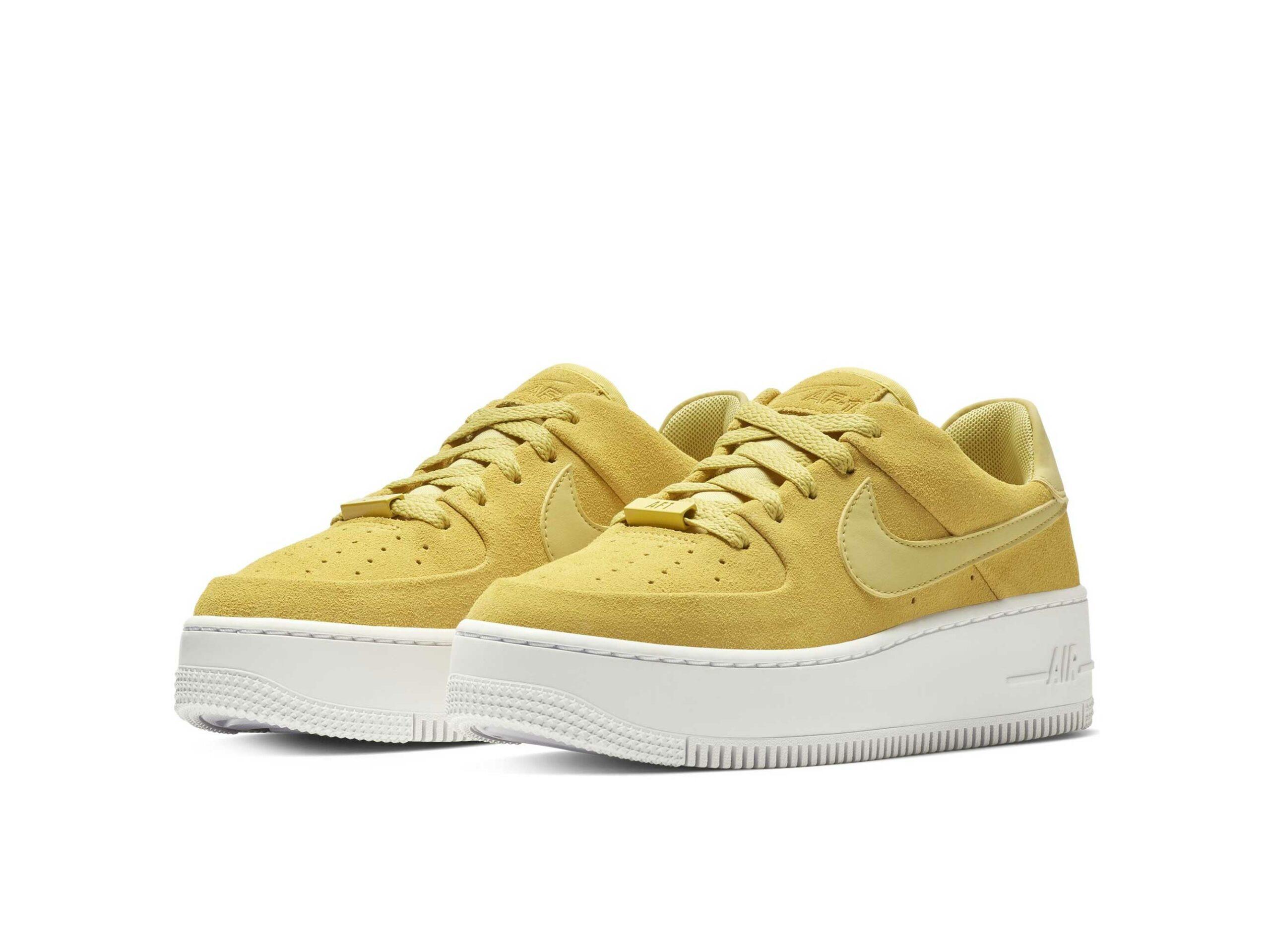 nike air force 1 sage low mustard ar5339_300 купить