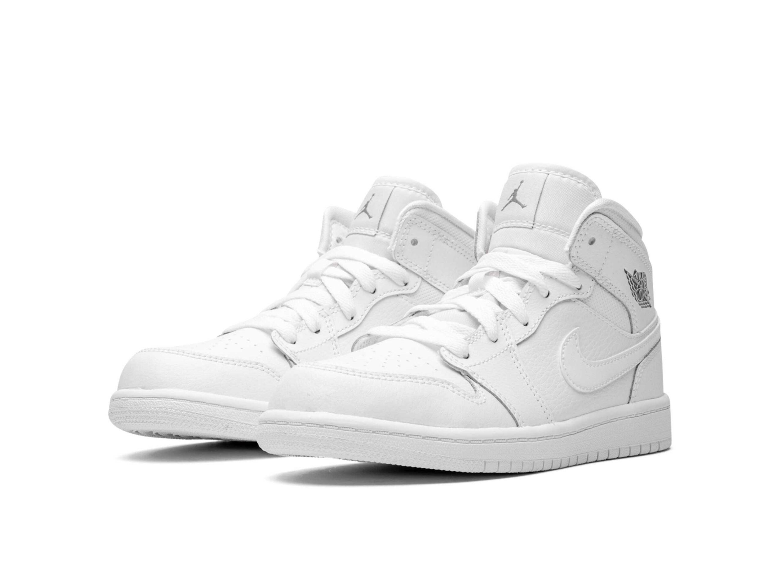 nike air Jordan 1 mid BP white 670734_102 купить