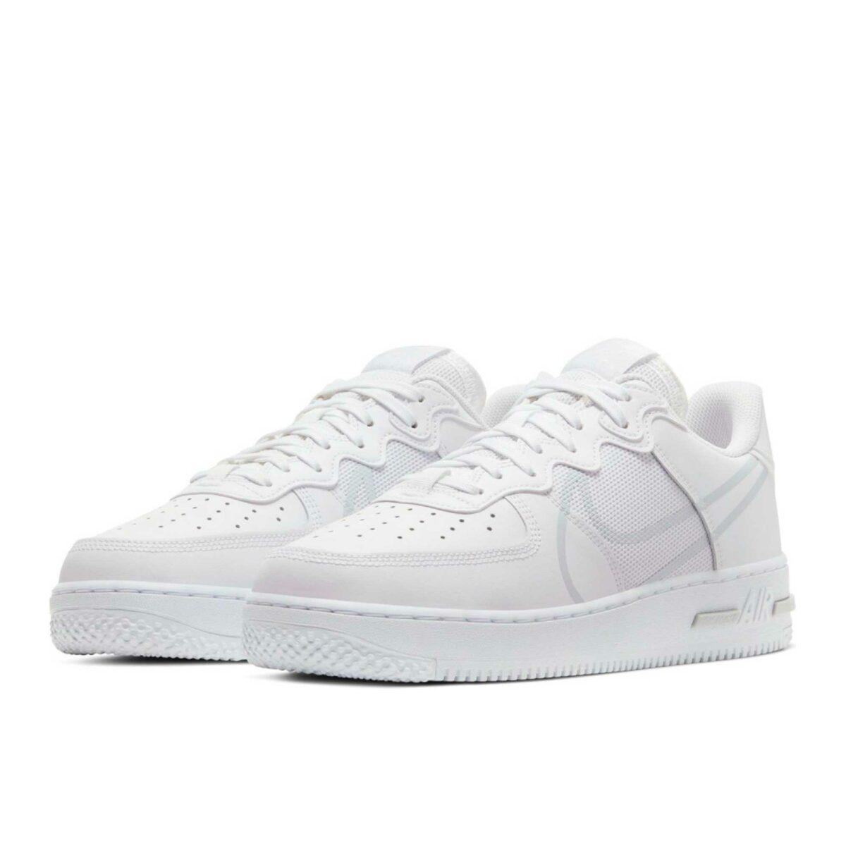 Nike Air Force 1 React white pure platinum CD4366_101 купить