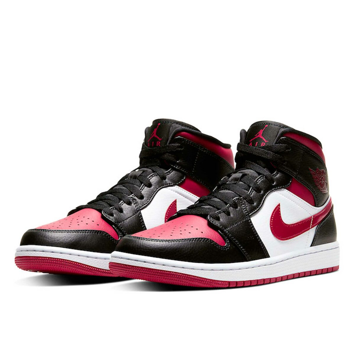 nike air Jordan 1 black noble red 554724_066 купить
