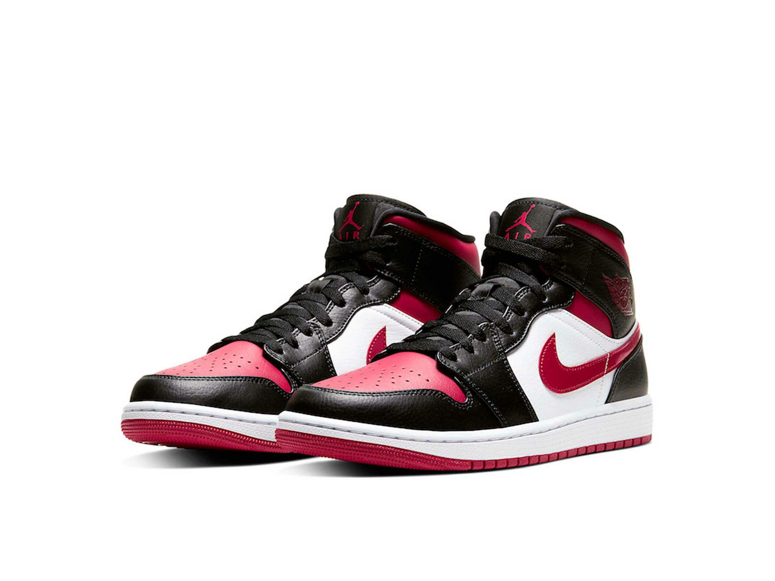 nike air Jordan 1 black noble red 554724_066 купить