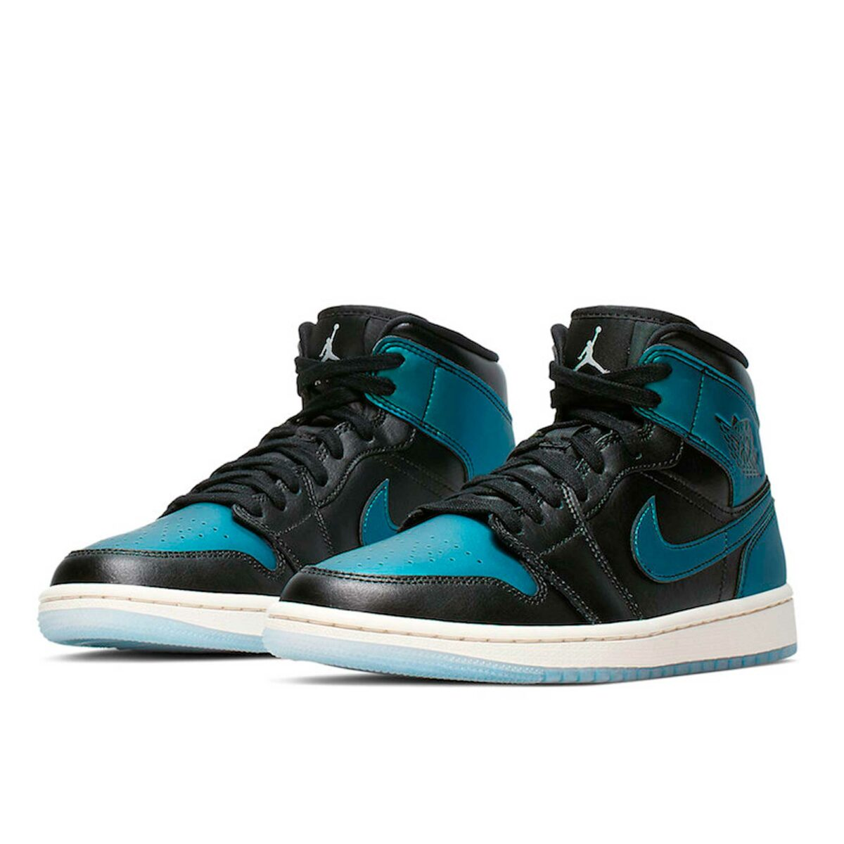 nike air Jordan 1 mid blue metallic 907958_015 купить