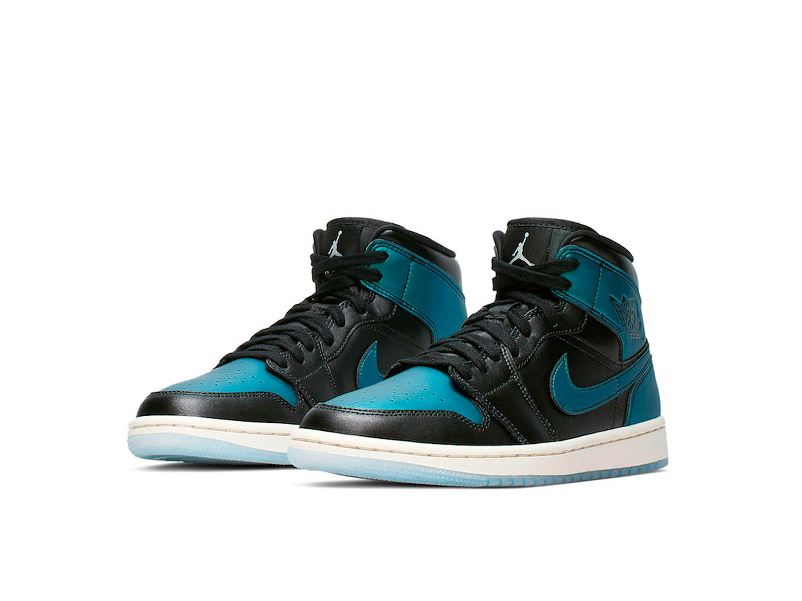 nike air Jordan 1 mid blue metallic 907958_015 купить