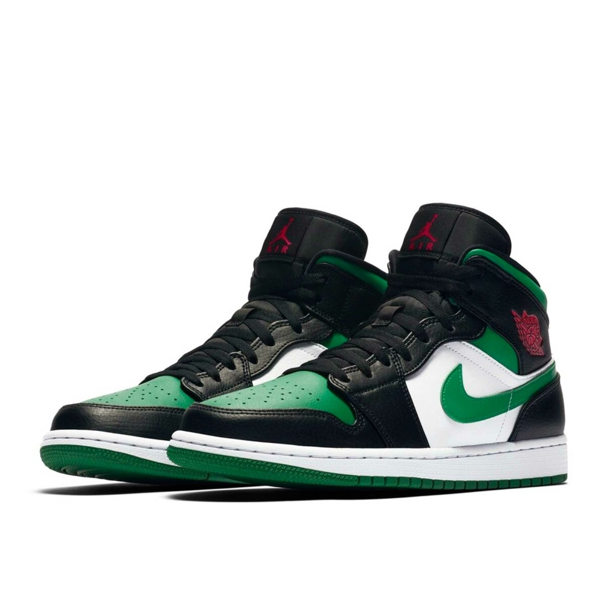 nike air Jordan 1 mid pine green black 554724_067 купить