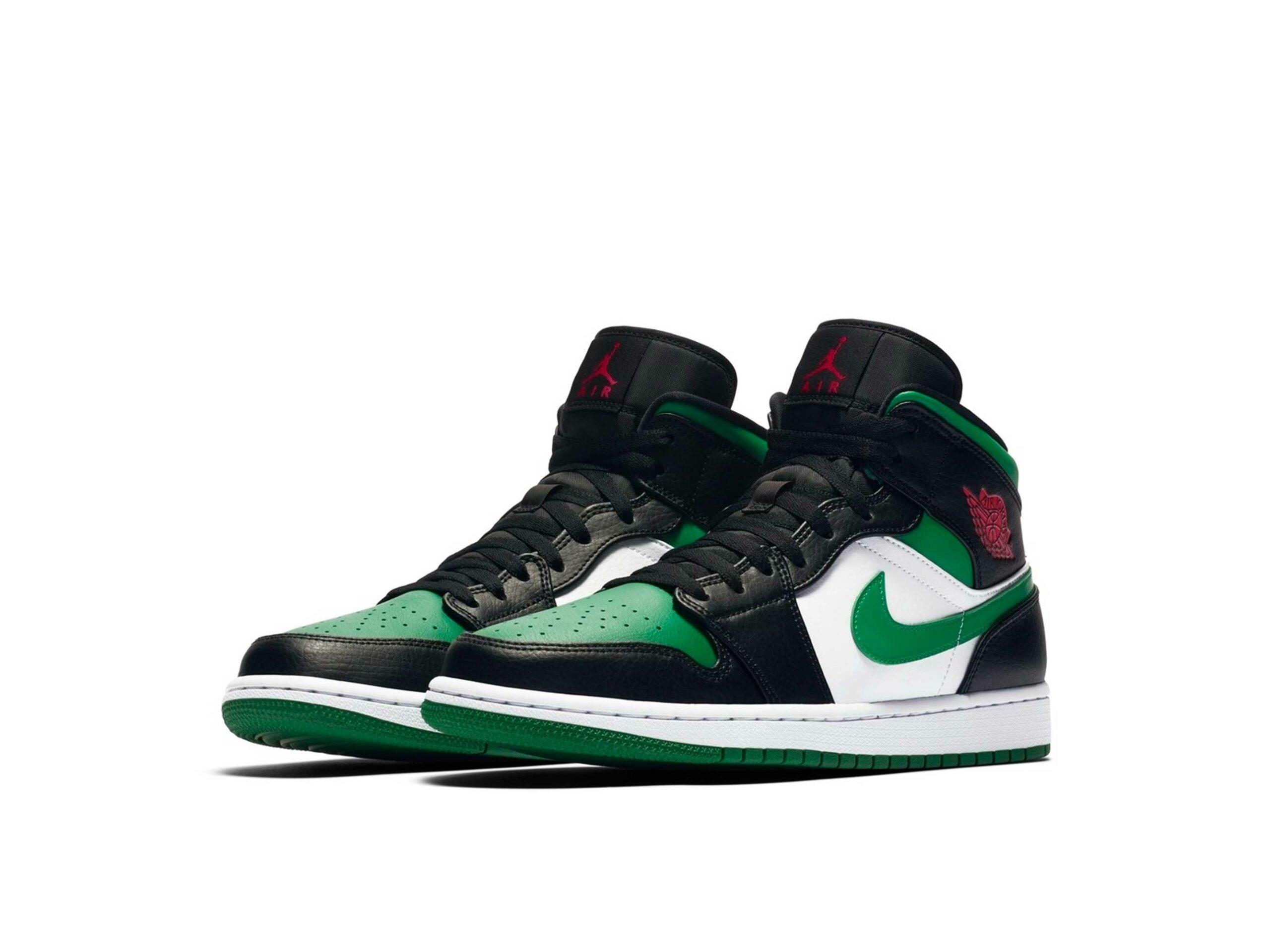 nike air Jordan 1 mid pine green black 554724_067 купить