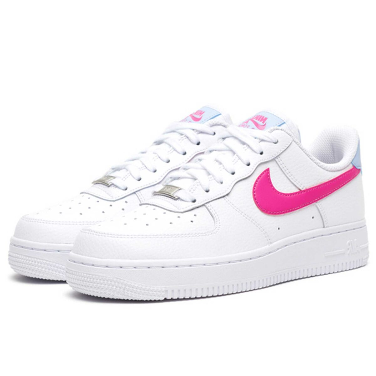 nike air force 1 07 white fire pink CT4328_101 купить