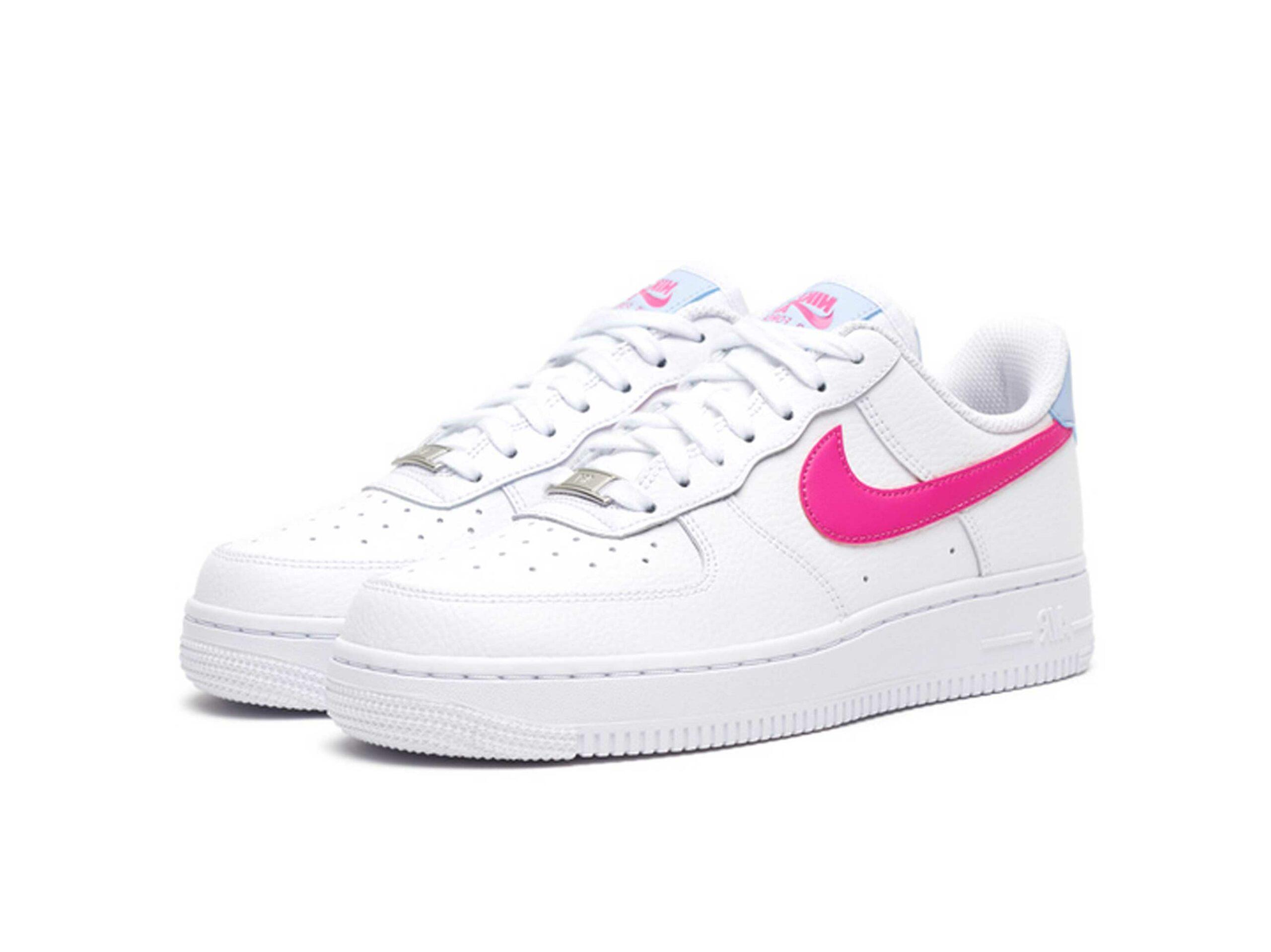 nike air force 1 07 white fire pink CT4328_101 купить