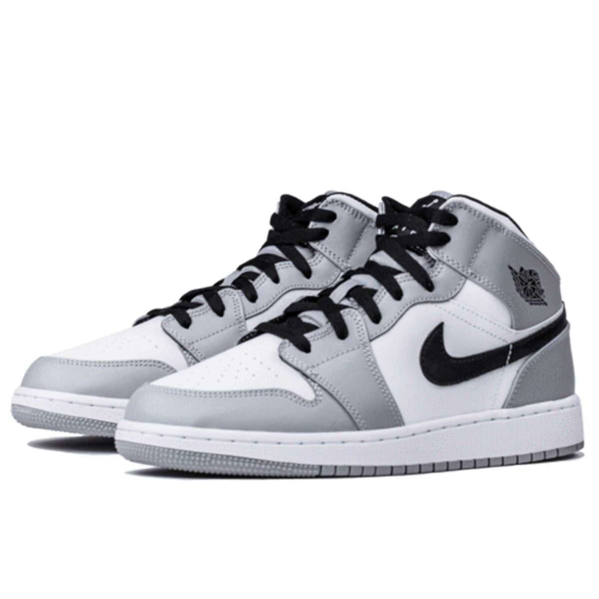 nike air Jordan 1 mid light smoke grey 554725_092 купить