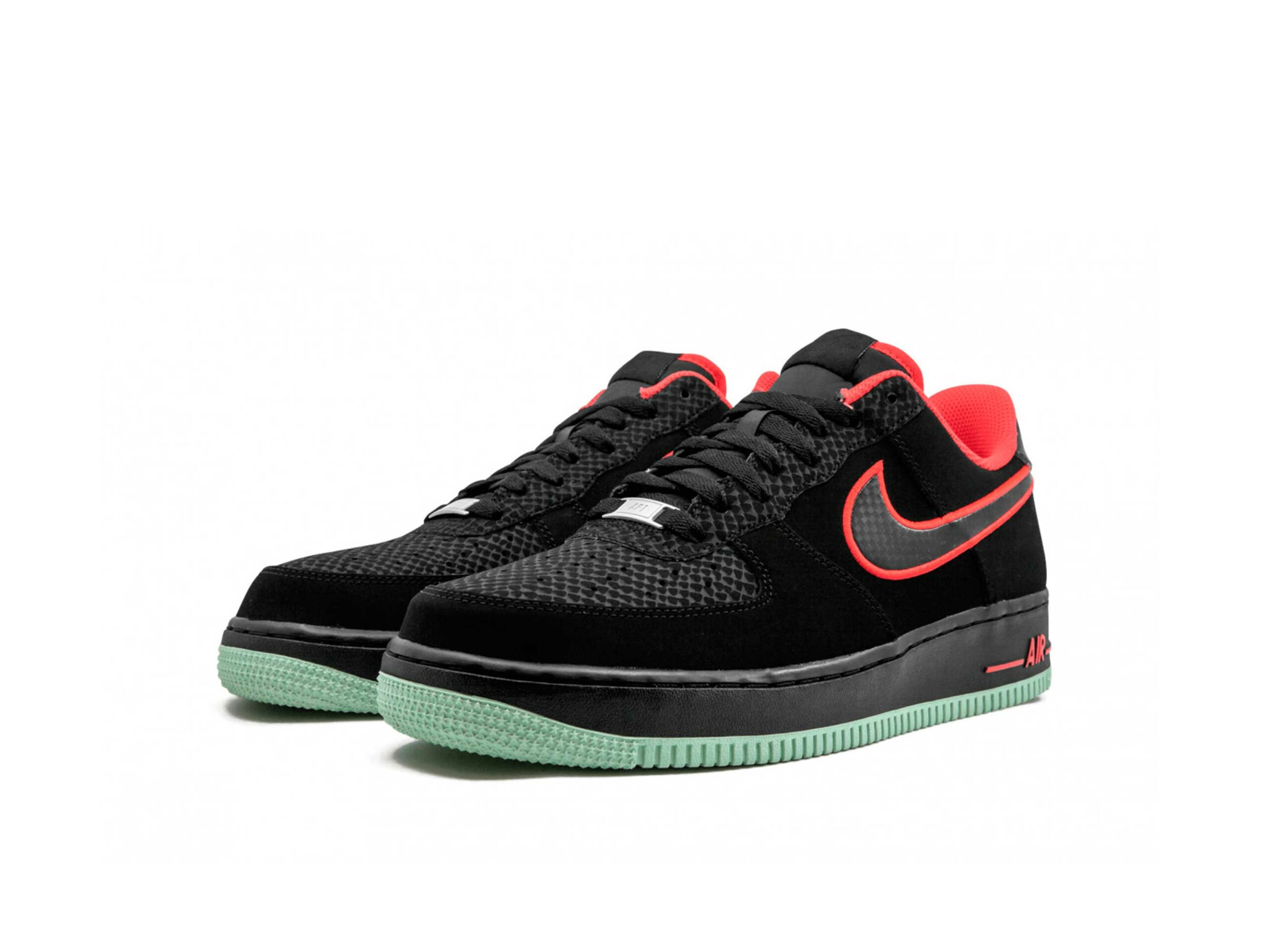 nike air force 1 black action red 488298_048 купить