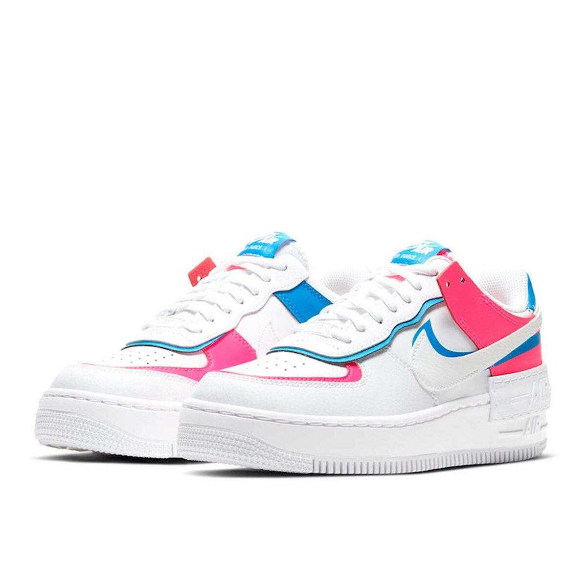 nike air force 1 shadow pink blue CU3012_111 купить