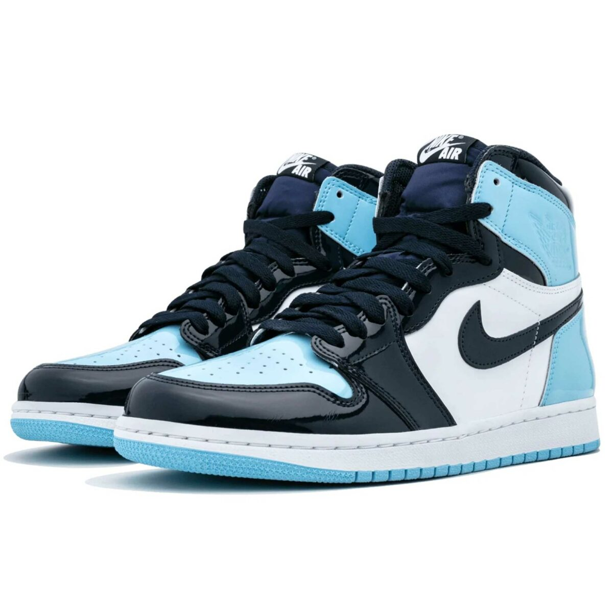 nike air Jordan 1 high UNC patent leather CD0461_401 купить
