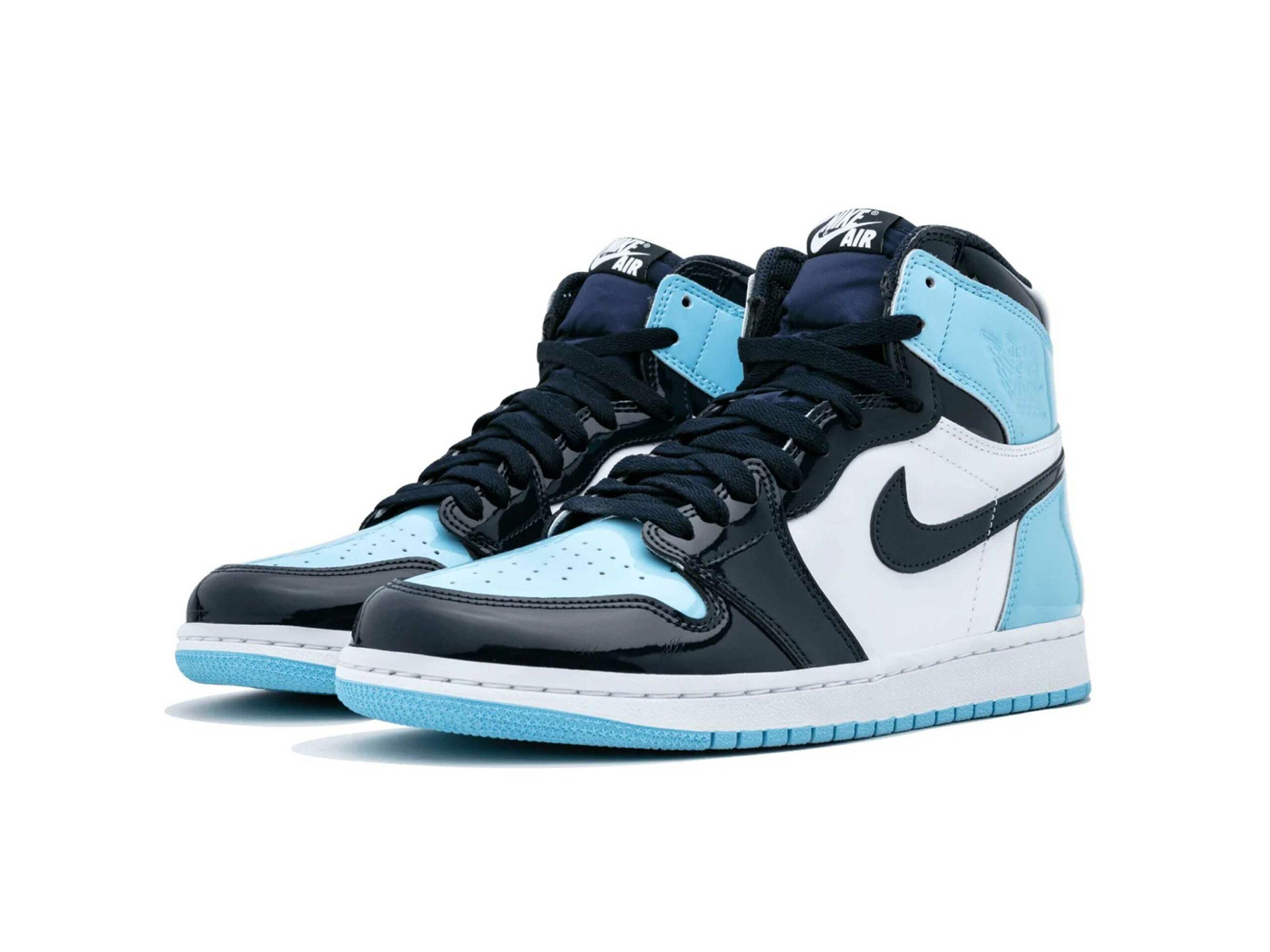 nike air Jordan 1 high UNC patent leather CD0461_401 купить