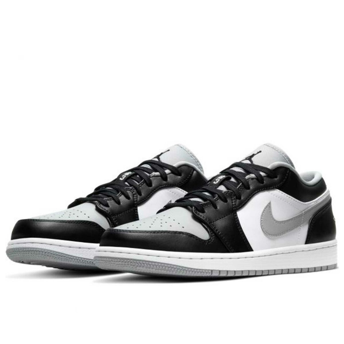 nike air Jordan 1 retro low black grey 553558_039 купить
