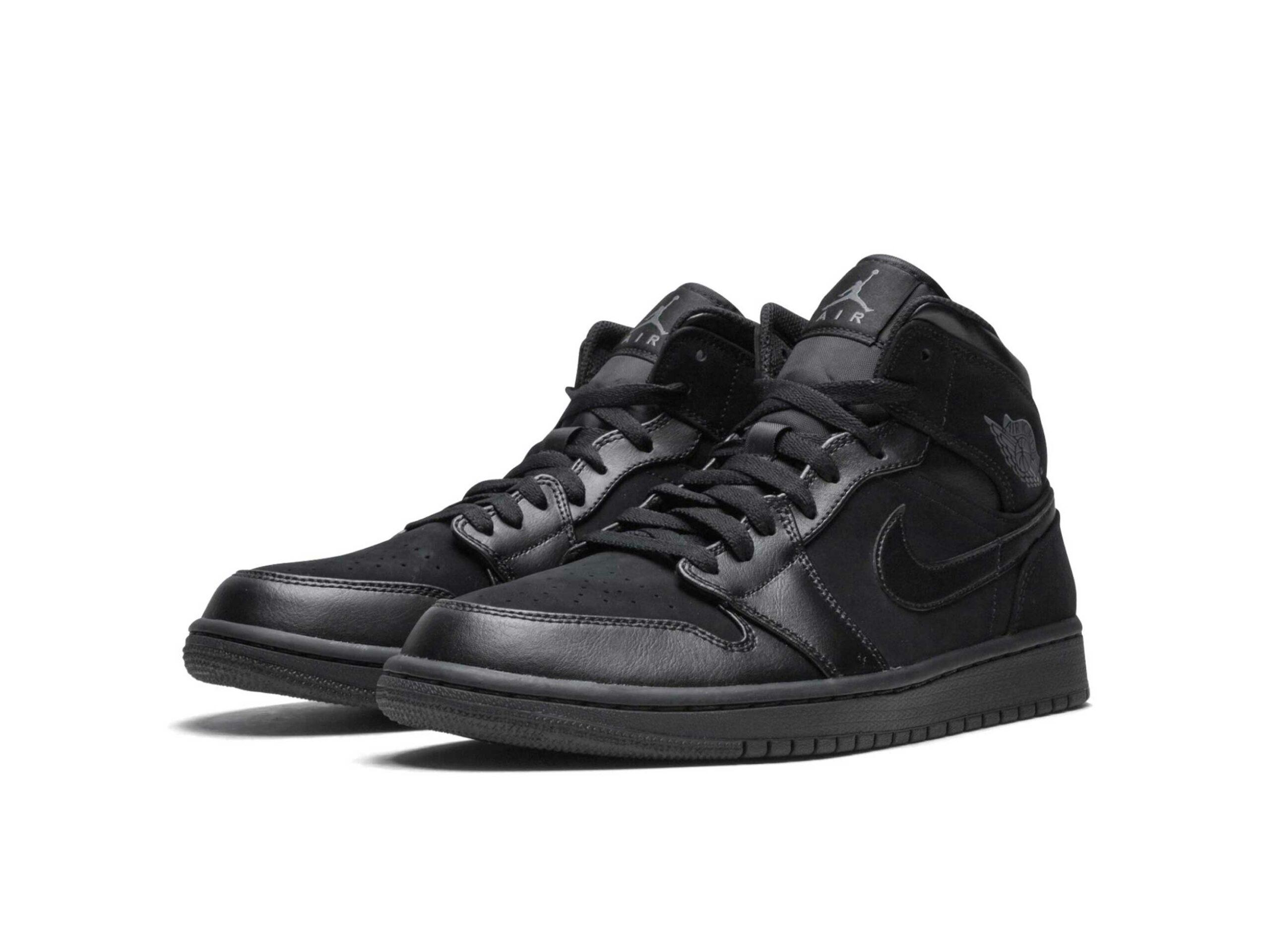 nike air Jordan 1 mid black 554724_050 купить