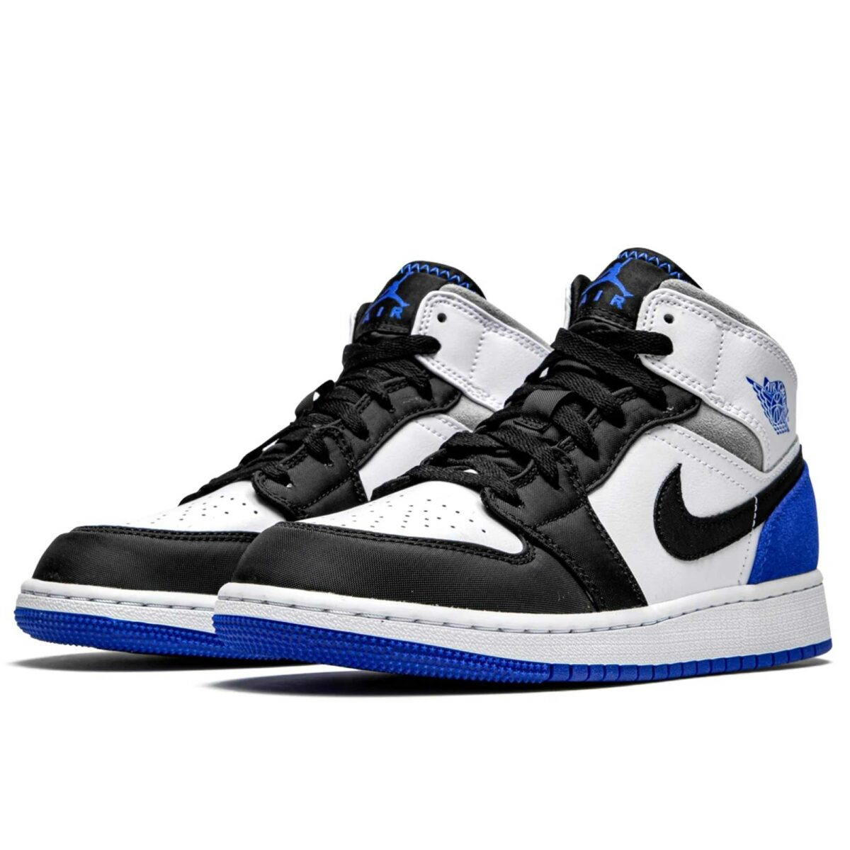 nike air Jordan 1 mid royal white BQ6931_102 купить