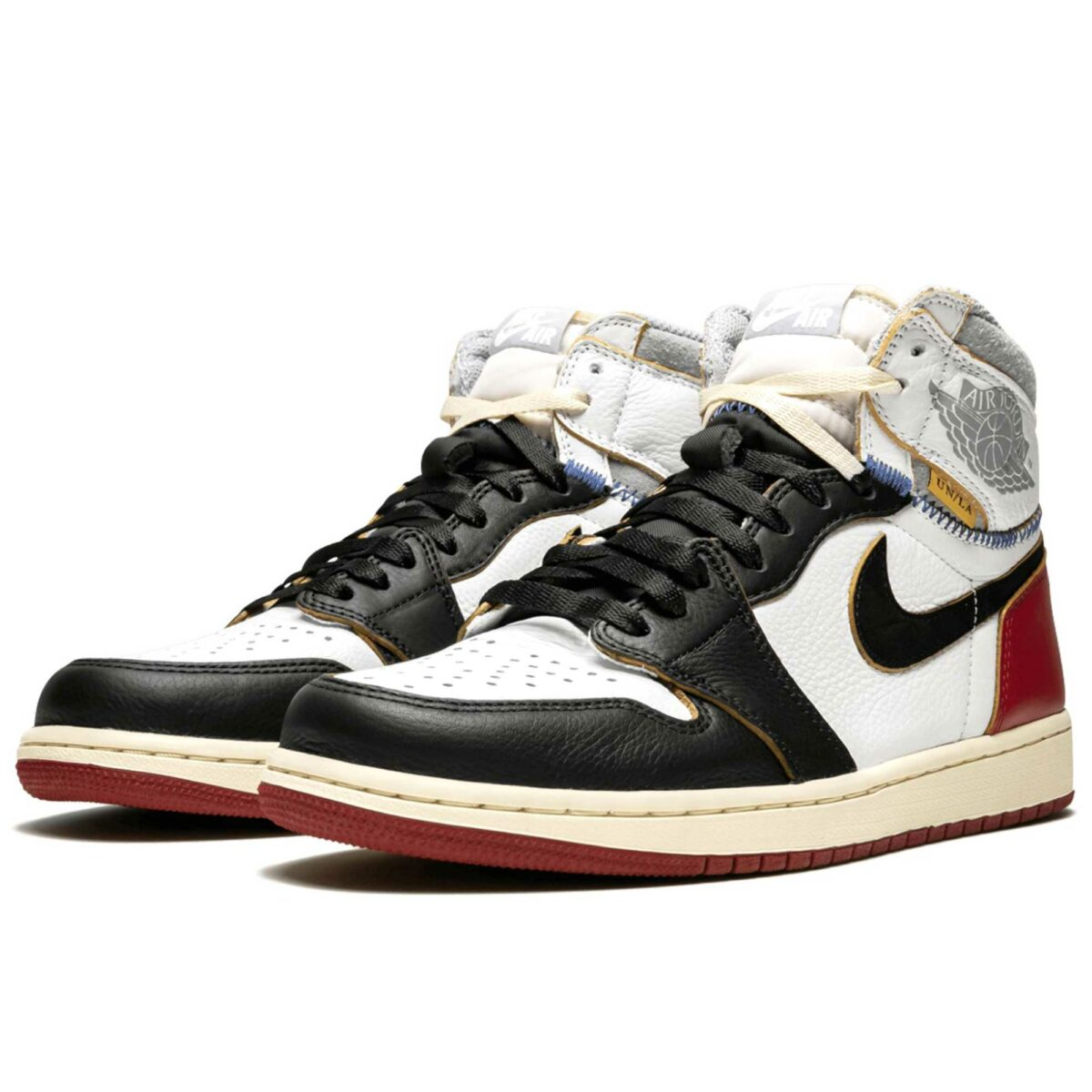 nike air Jordan 1 retro hi union black toe BV1300_106 купить