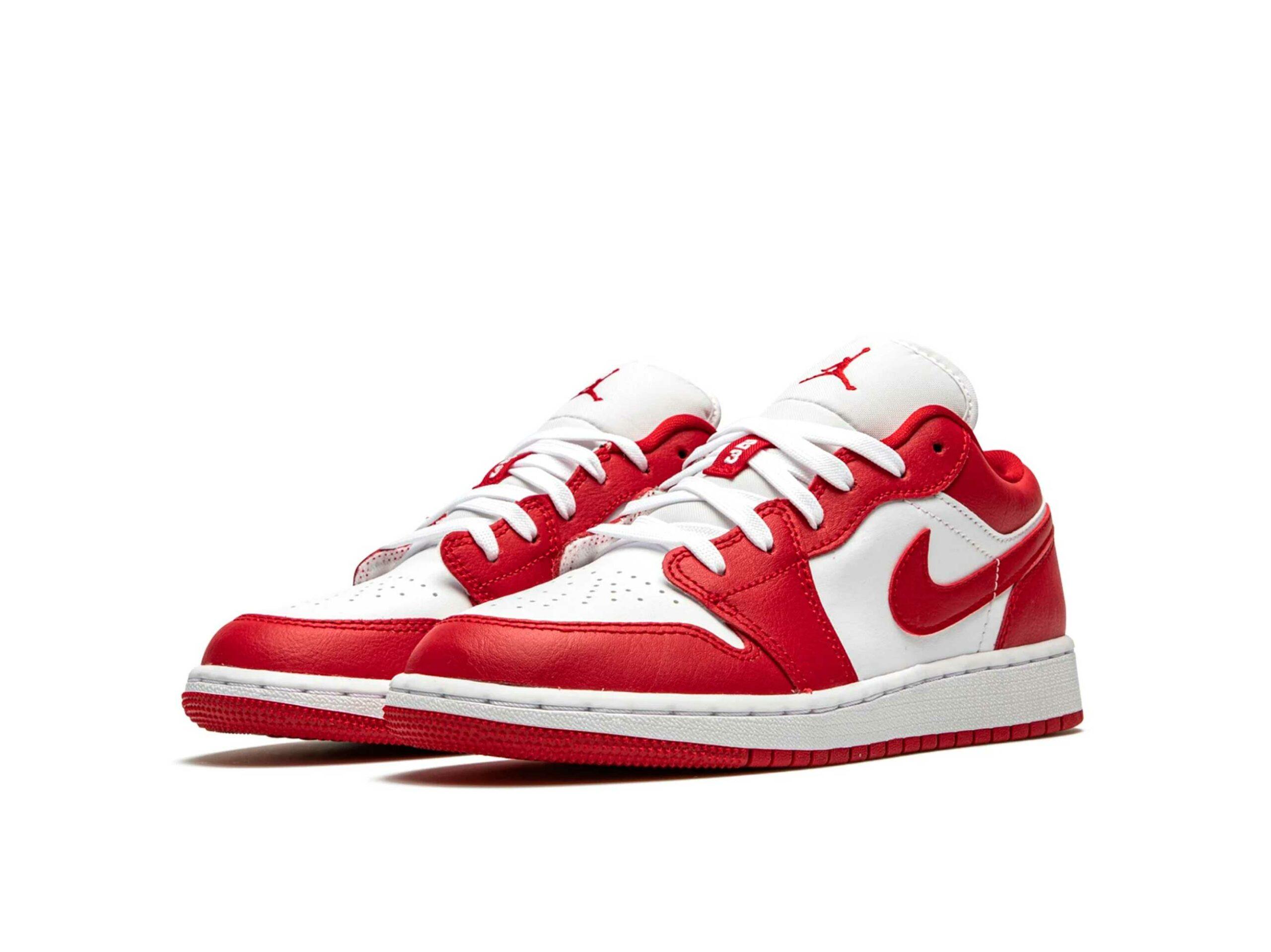 nike air jordan 1 low GS gym red white 553560_611 купить