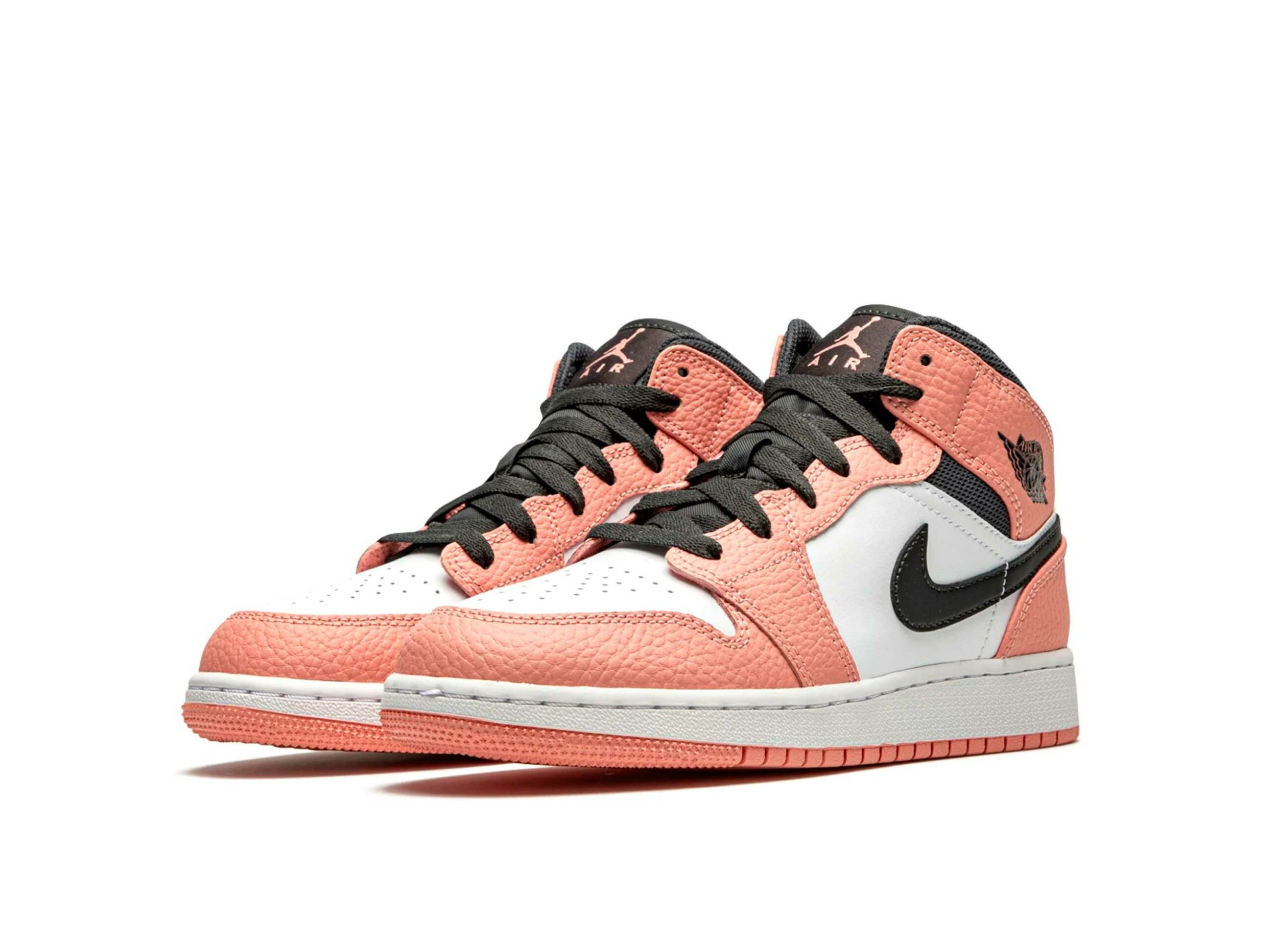 nike air jordan 1 mid GS pink quartz 555112_603 купить